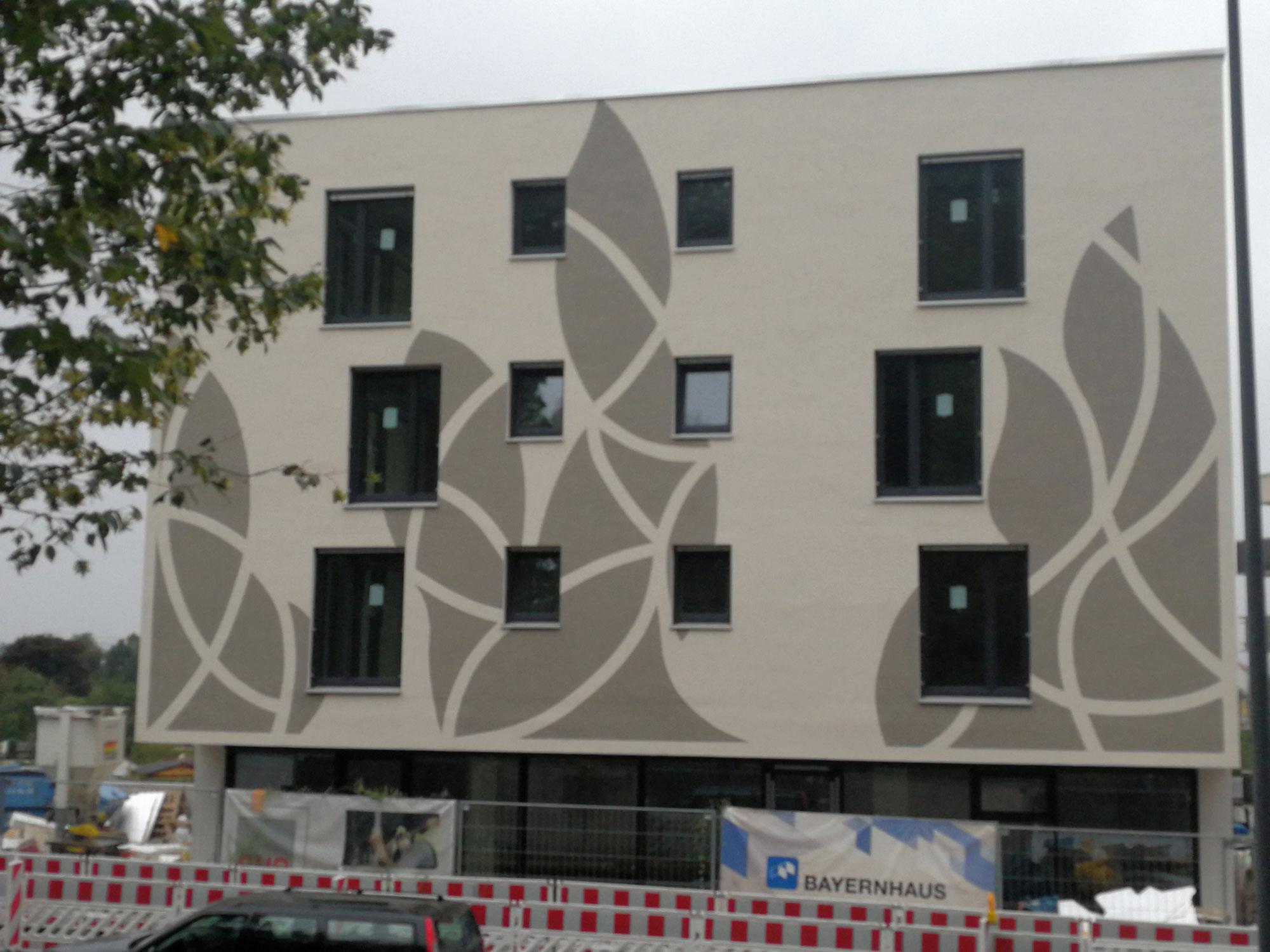 Moderne Fassaden und Wandmalerei