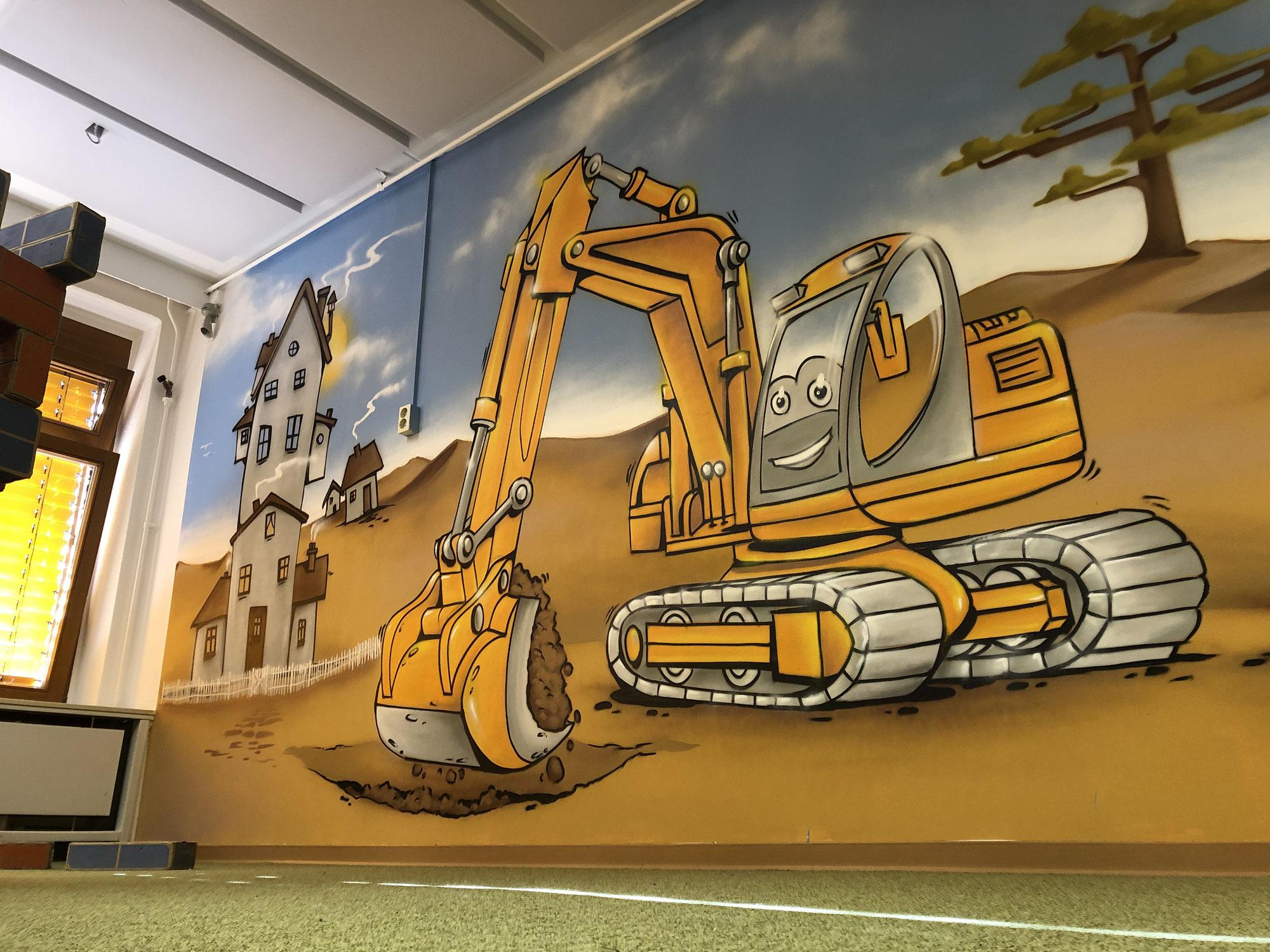 Graffiti Spielzimmer für Kindergarten