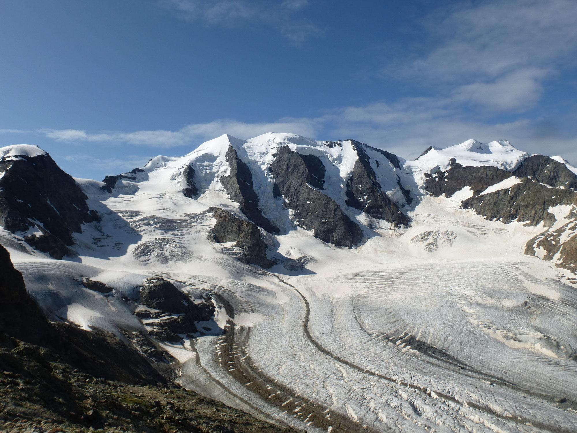 Piz Palü 3905m - Piz Bernina 4049m