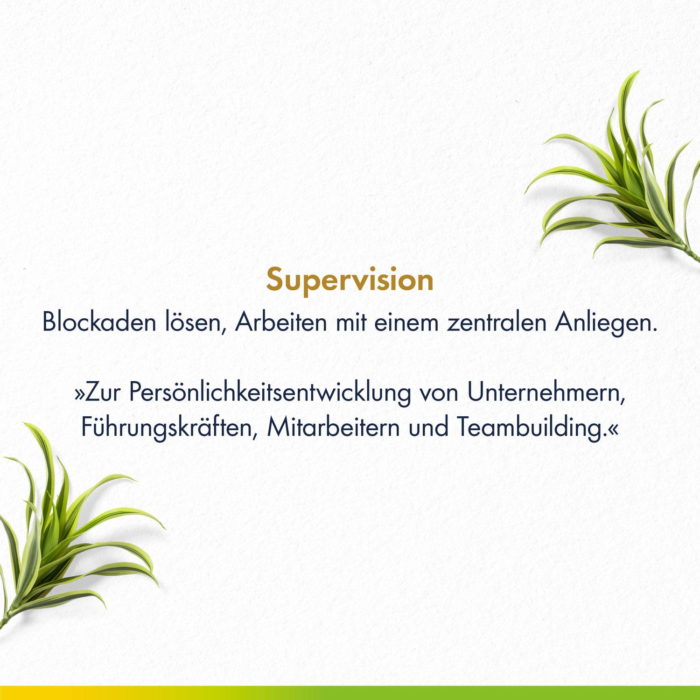 Supervision beginnt bei einem selbst...
