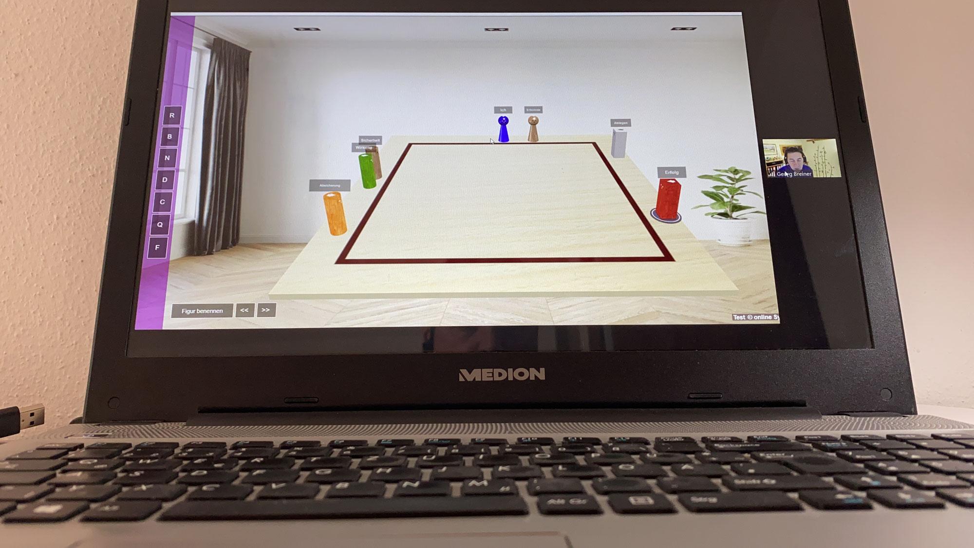 Online- Aufstellung mit dem Systembrett