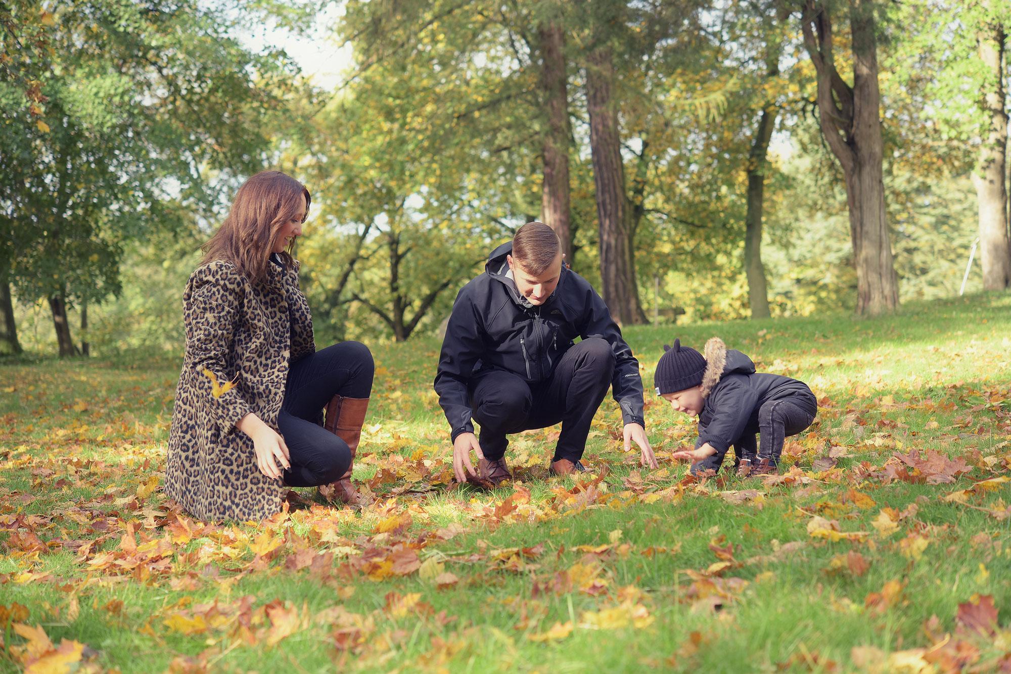 Familienbilder im Herbst in Burg Stargard