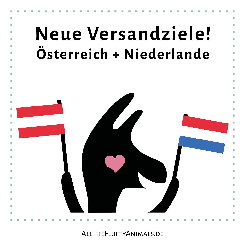 Neue Versandziele: Österreich und Niederlande!