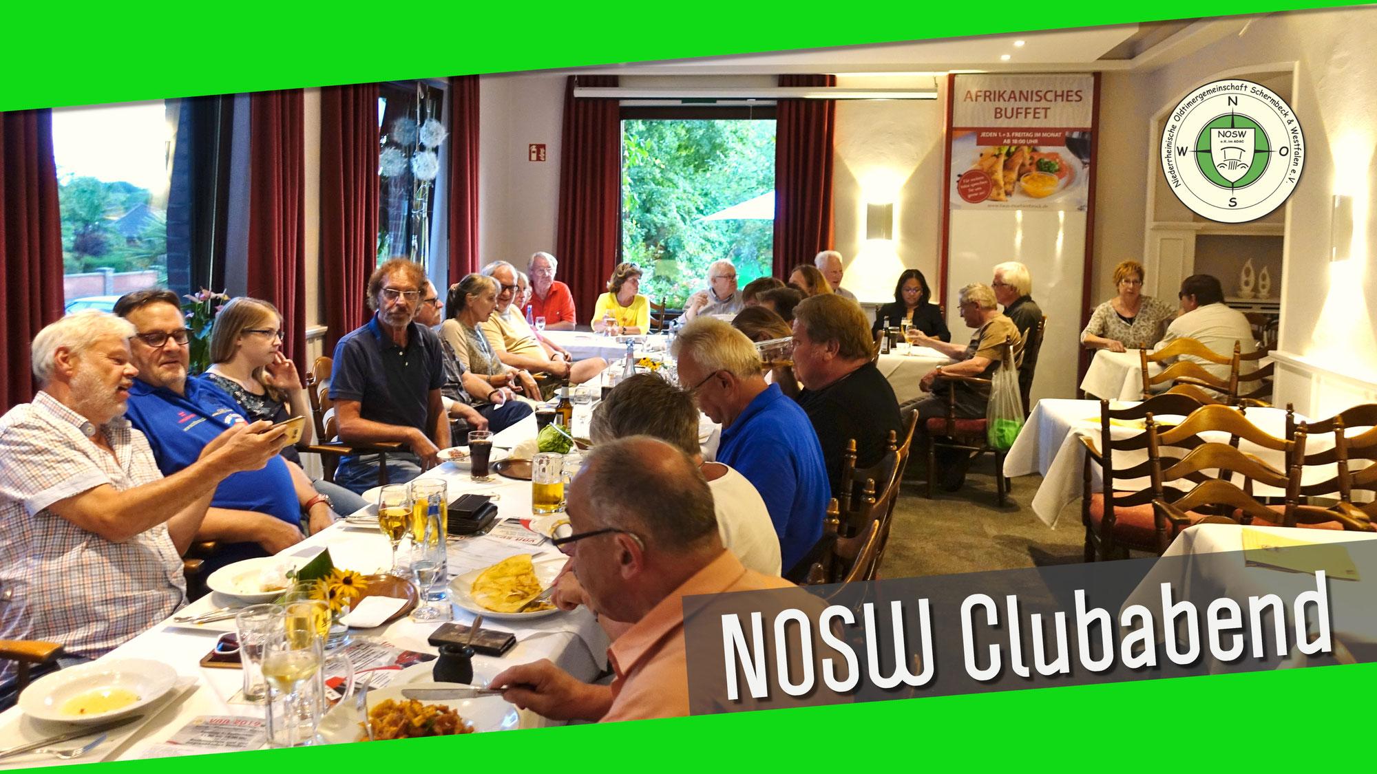 NOSW Clubabend findet wieder statt!