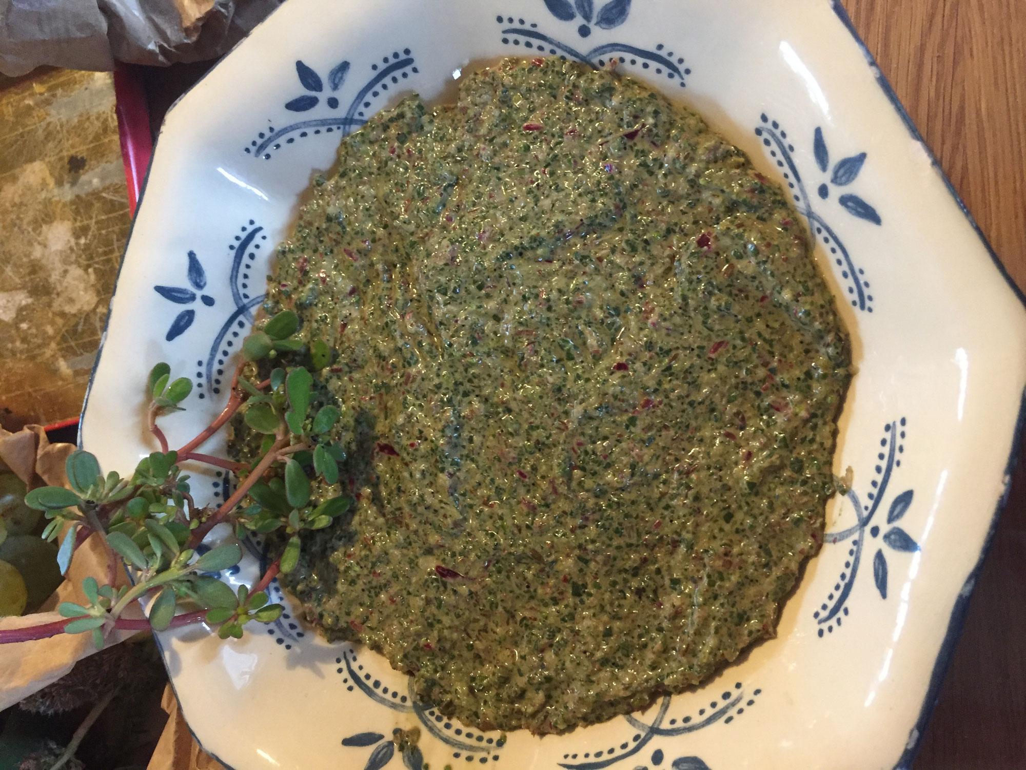 guacamole de pourpier