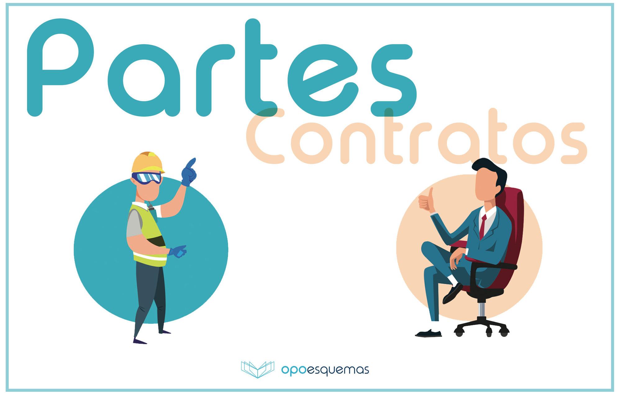 Esquemas Oposiciones Gratis. Partes en el Contrato. Ley de Contratos del Sector Público 9/2017