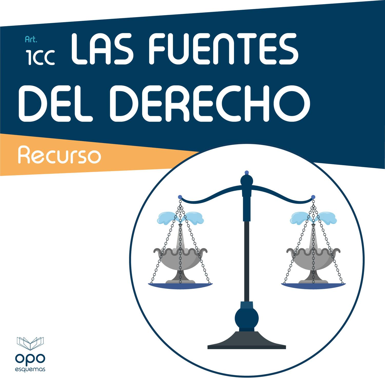 Las Fuentes del Derecho Explicadas. Esquemas Oposiciones Gratis.