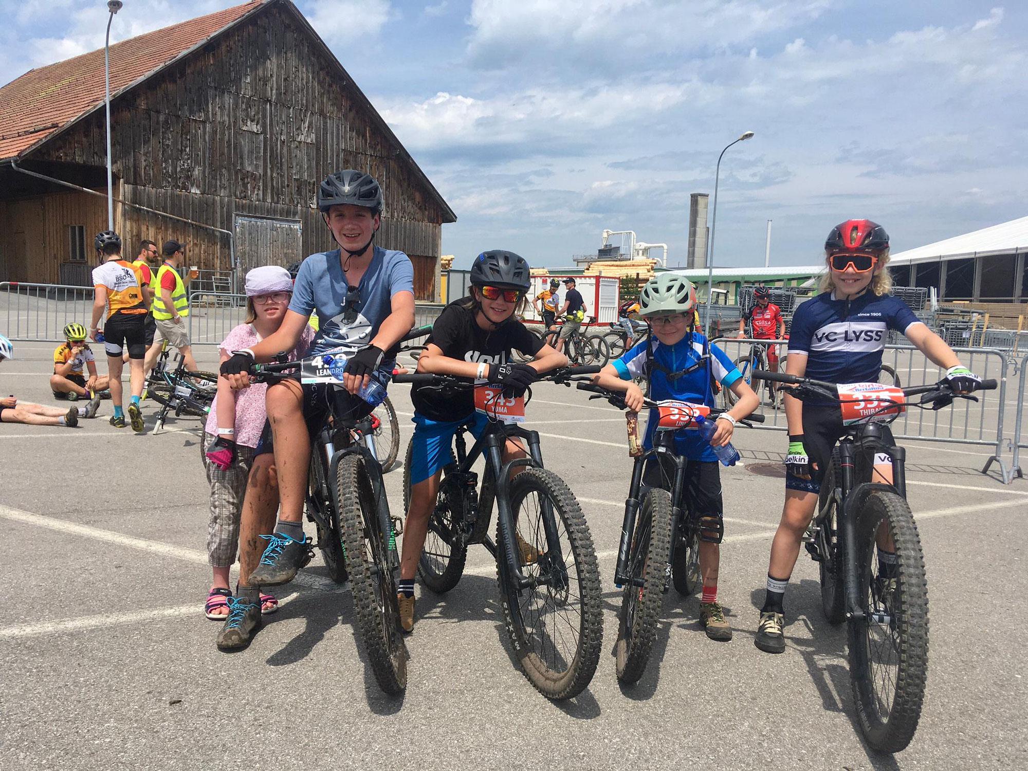Erstes MTB-Rennen für unsere Kidsbiker