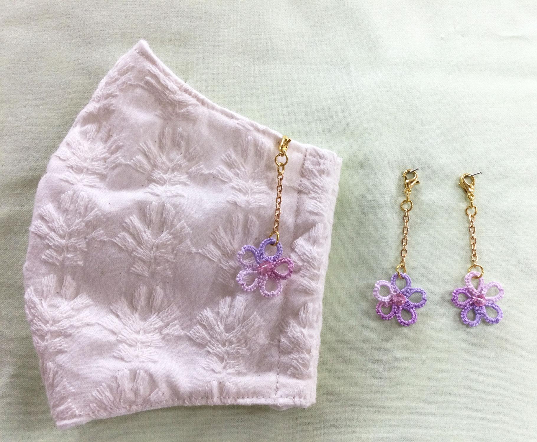 【ウィステリア八戸三春屋店】桜のマスクピアス♪