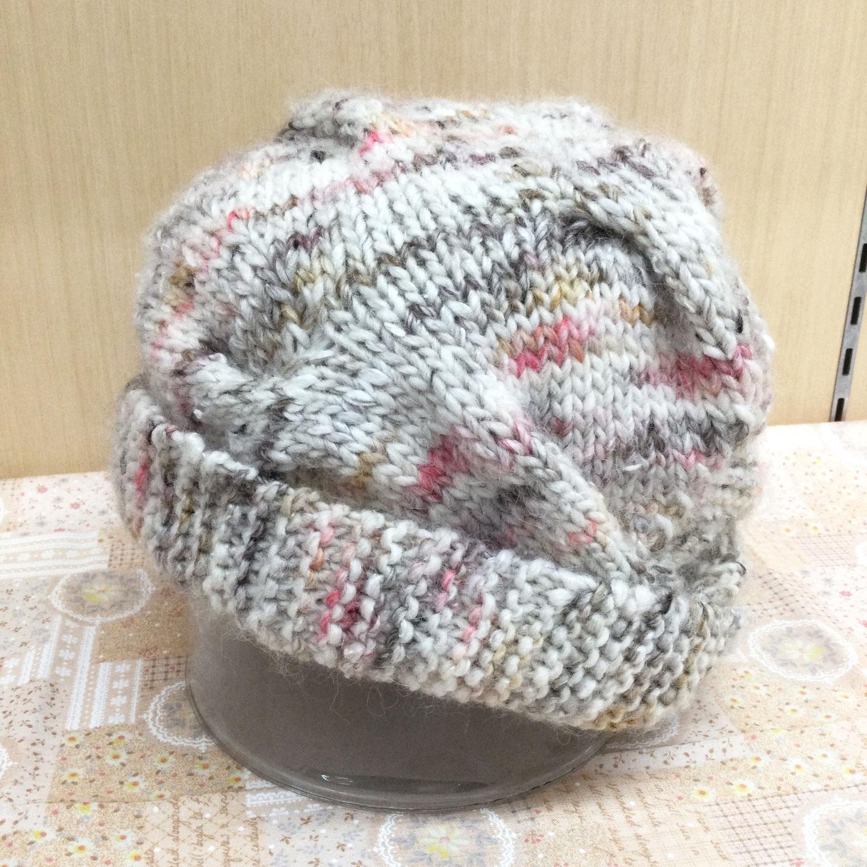 【ルピナス伊徳大館店】交差編みの帽子