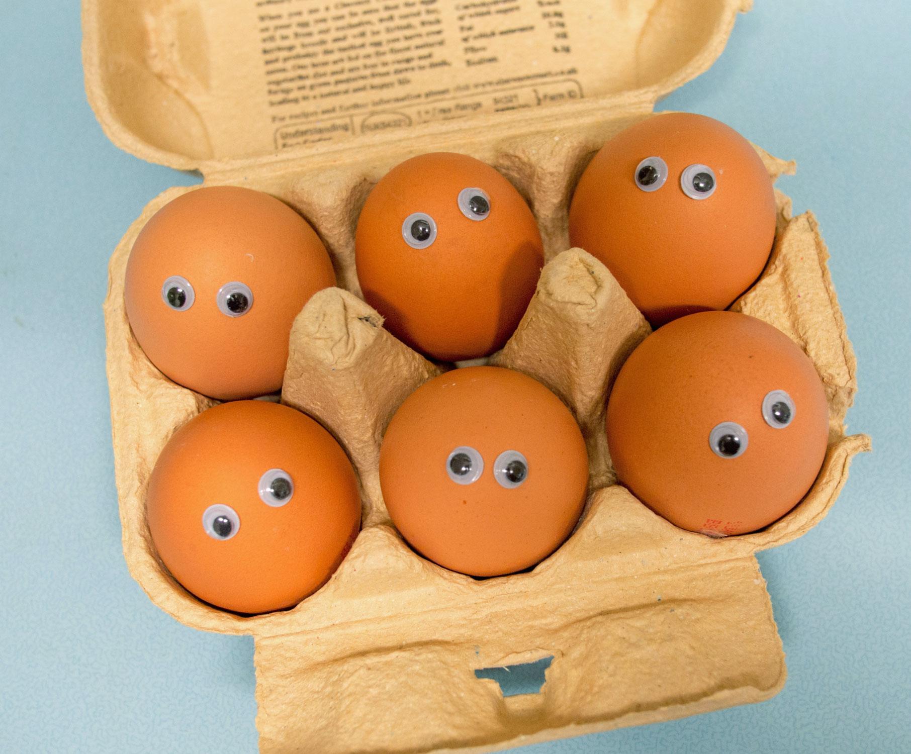 Zacht ei van buiten