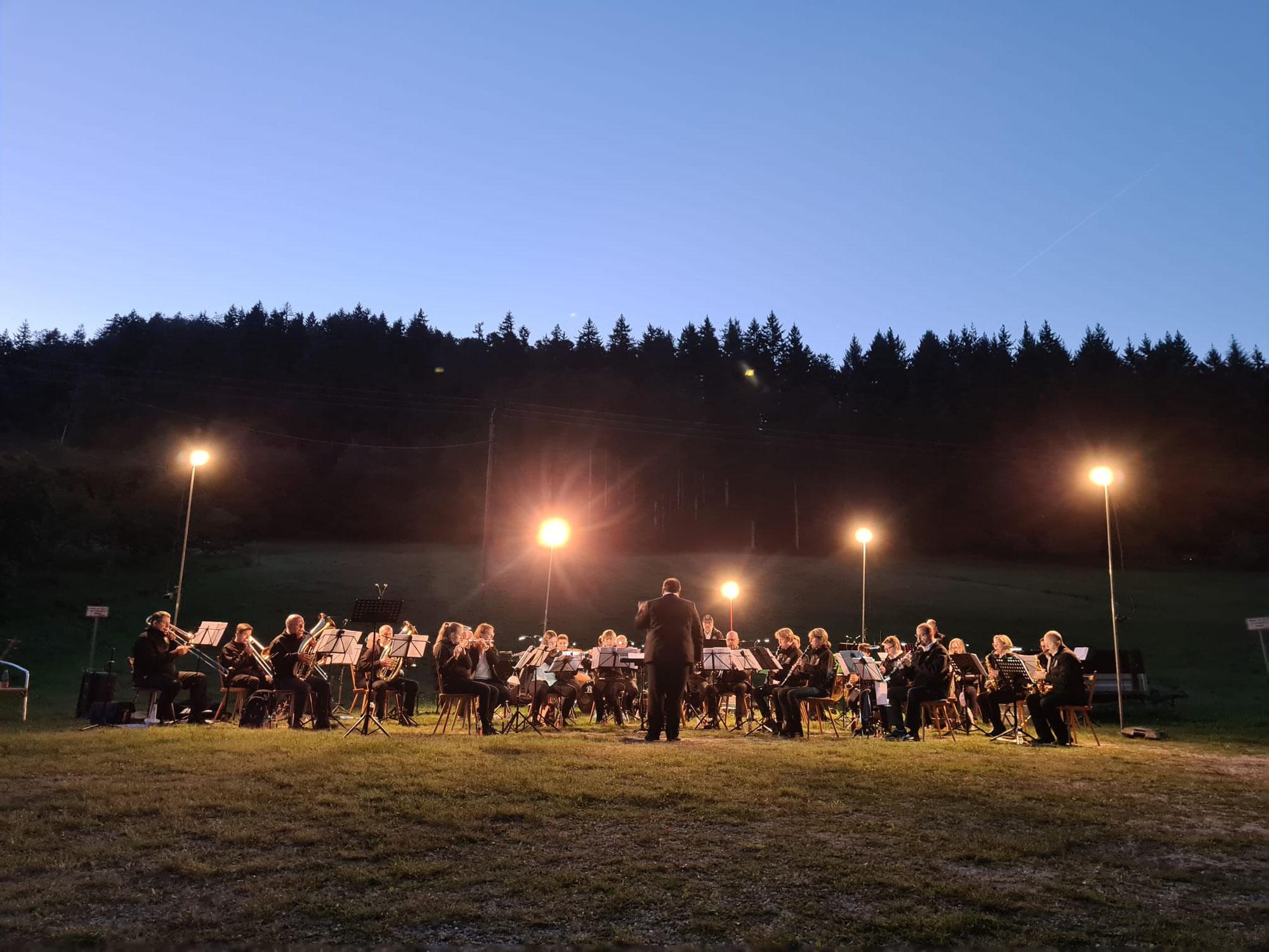 1. Picknick-Konzert in der Vereinsgeschichte