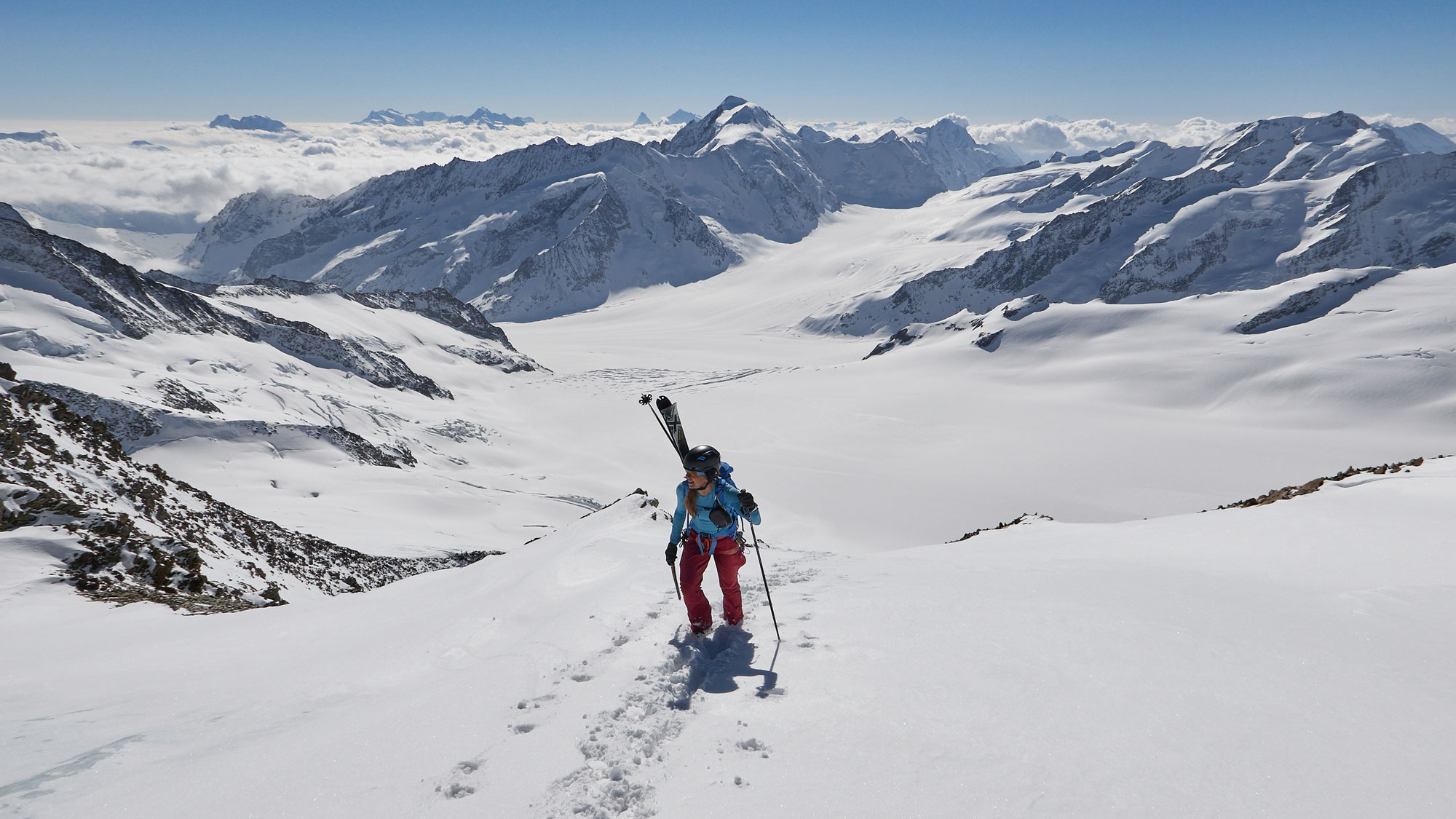 Jungfraujoch - Hinter Fiescherhorn - Gluringen