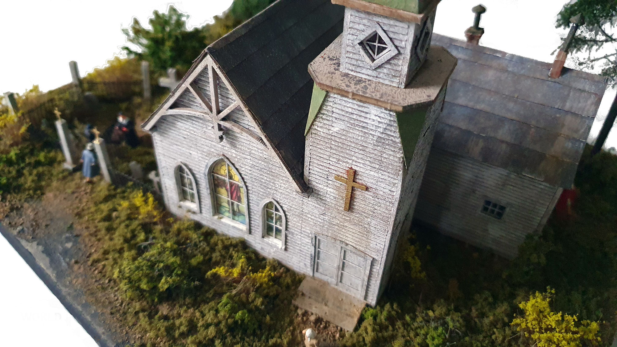 """RIVER BEND CHAPEL"" - 1:87 of  FOS-Scale Models"