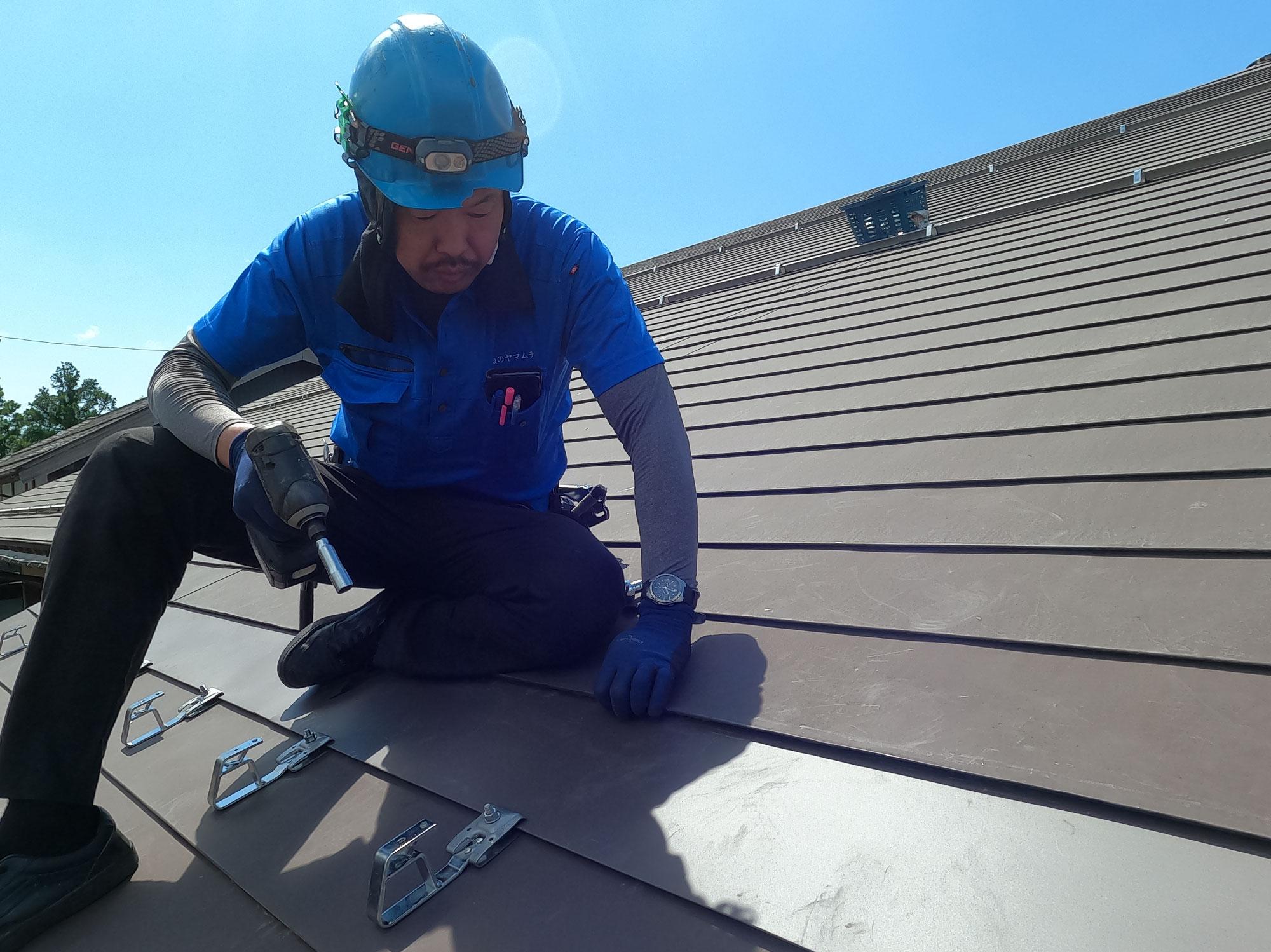 快晴!屋根の工事日和です