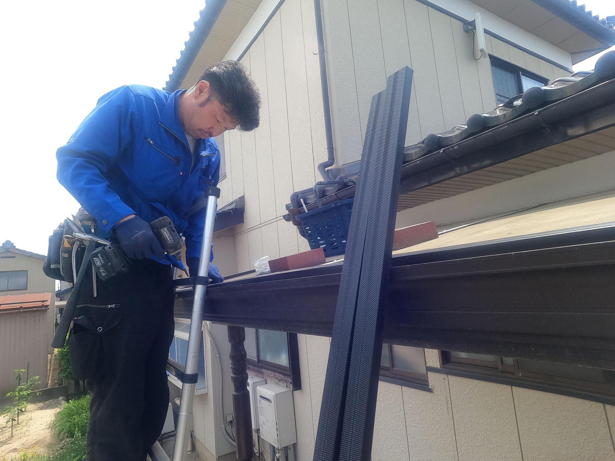 今日も屋根の修理です♪