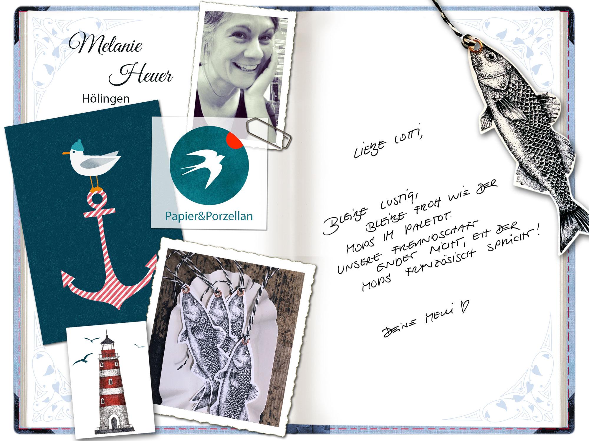 Melanie Heuer in Lottis Poesiealbum!