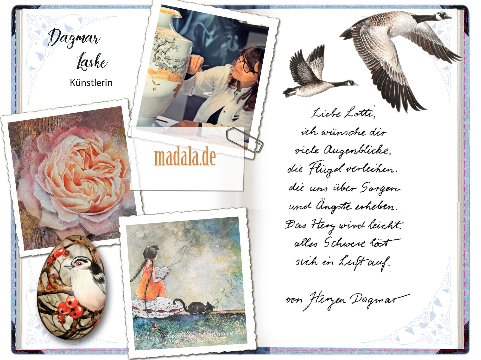 Dagmar Laske in Lottis Poesiealbum!