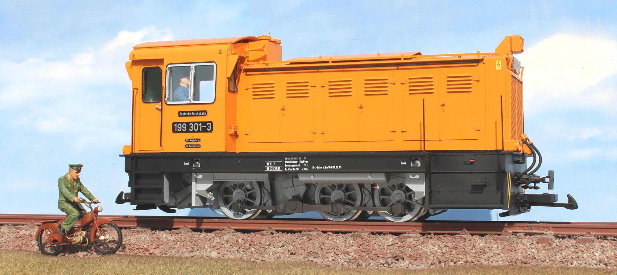 Diesellok 199 301-3 (V 30) der Harzquerbahn