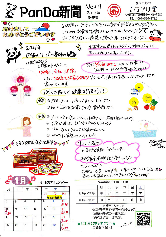 ぱんだ新聞 2021年1月号 No.41