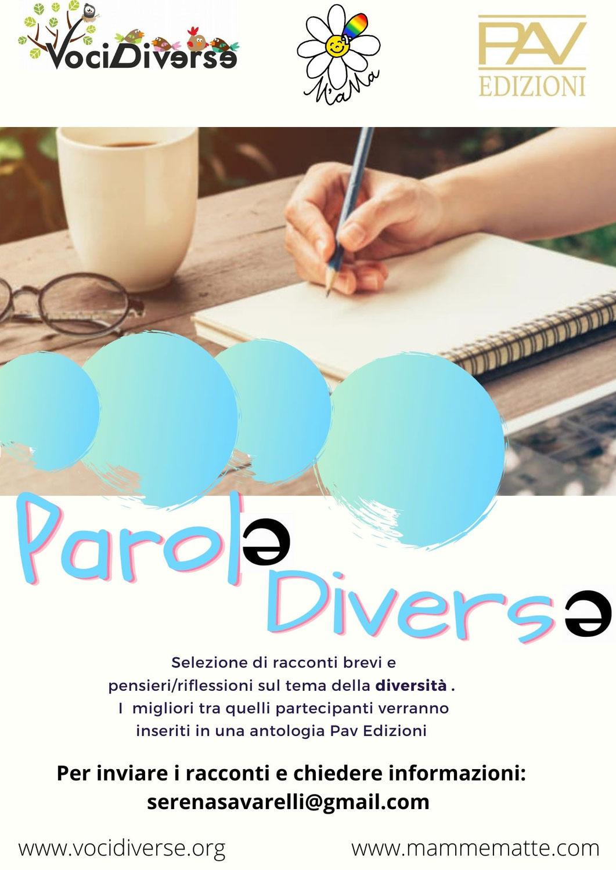 """Selezione di racconti: """"Parole Diverse""""."""