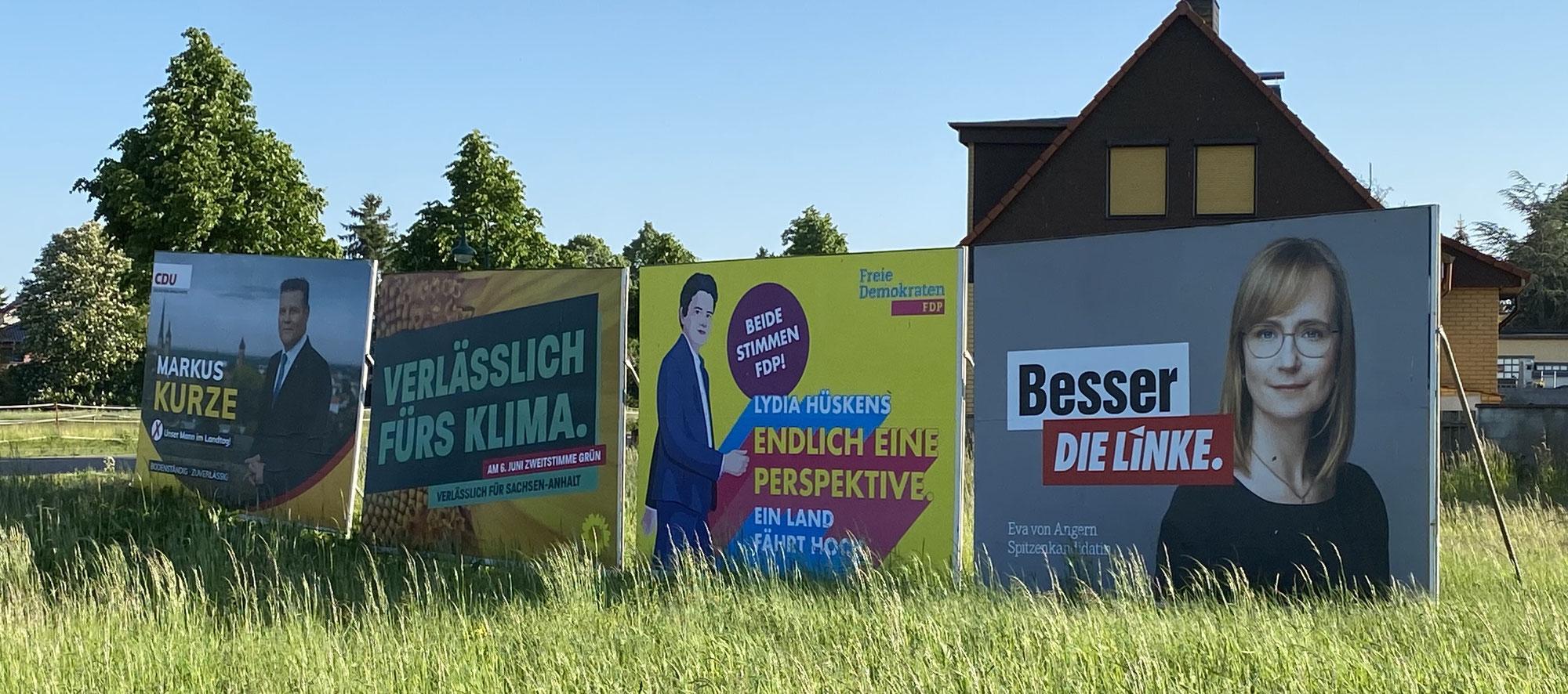 Planlos, kopflos, ideenlos: Der biedere Wahlkampf in Sachsen-Anhalt