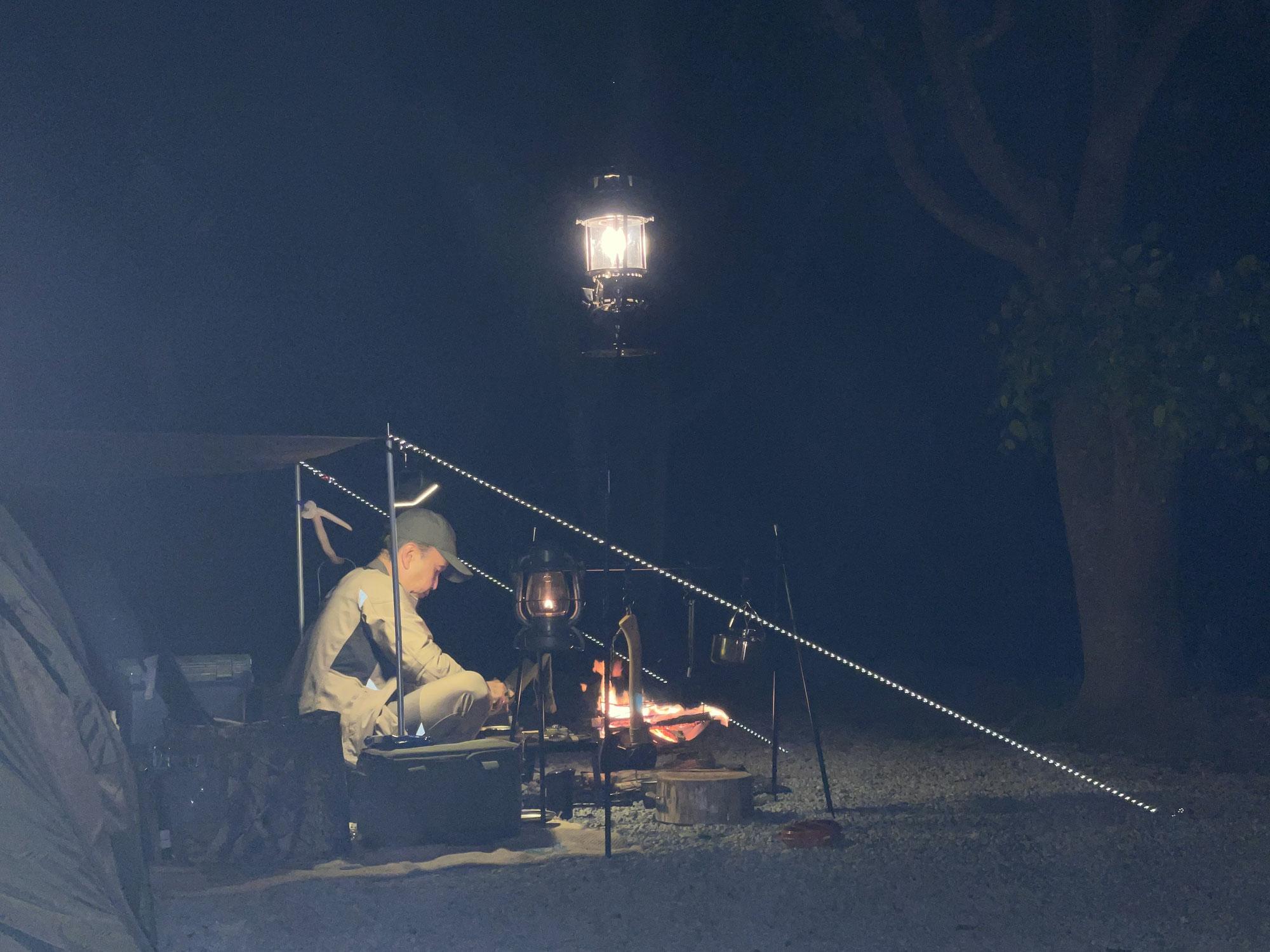 お客様とソロキャンプ-山梨のアウトドアショップCARNOSA CAMP-