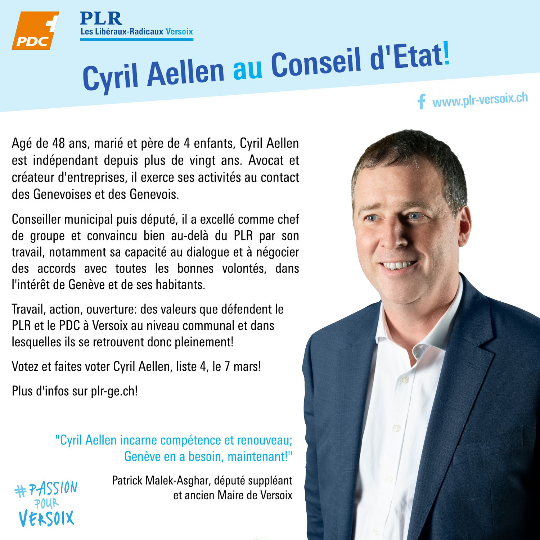 Cyril Aellen au Conseil d'Etat!
