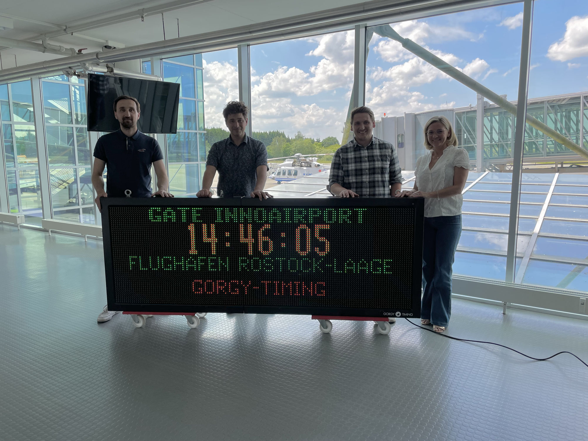GORGY TIMING installs LEDI® Timer at GATE InnoAirport