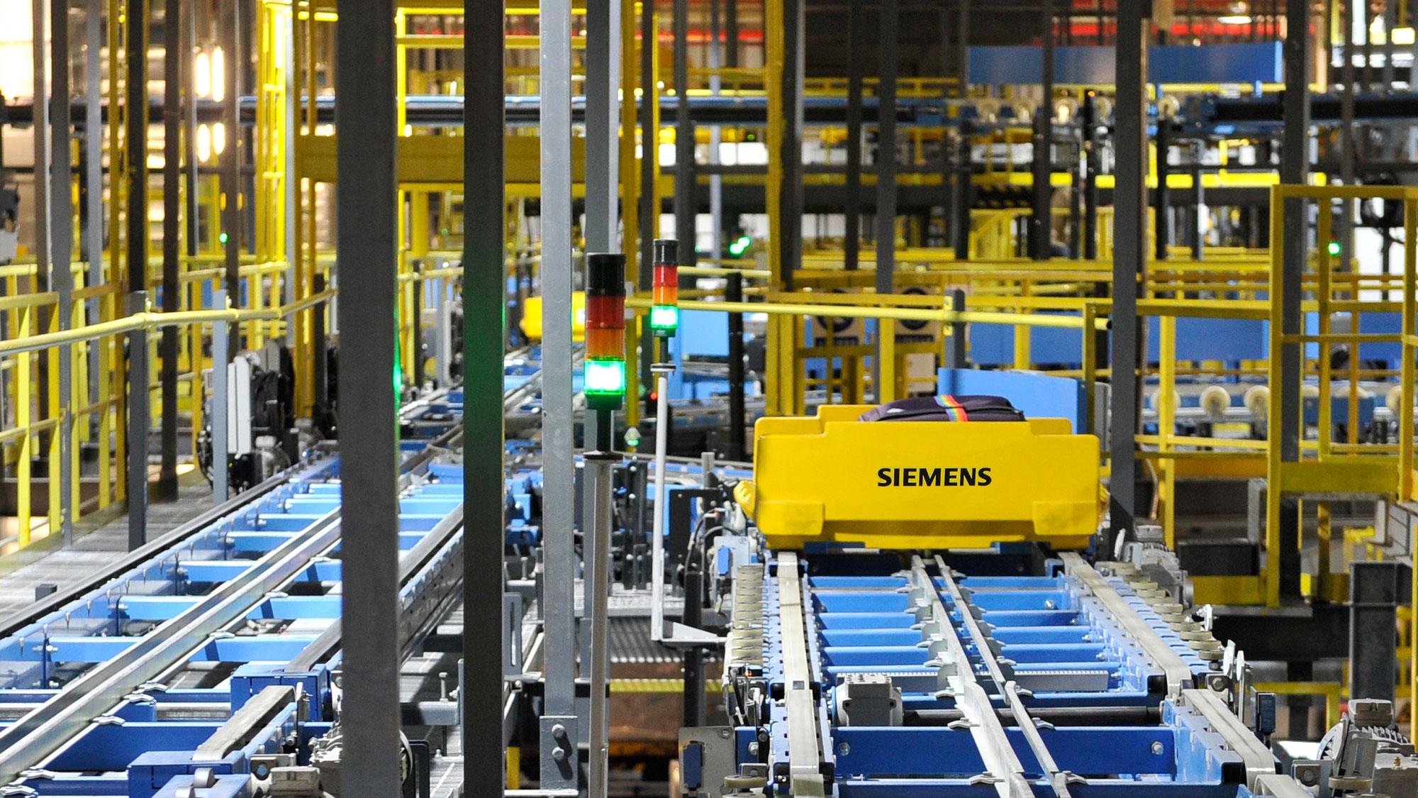 Visit to the Siemens Logistics test centre