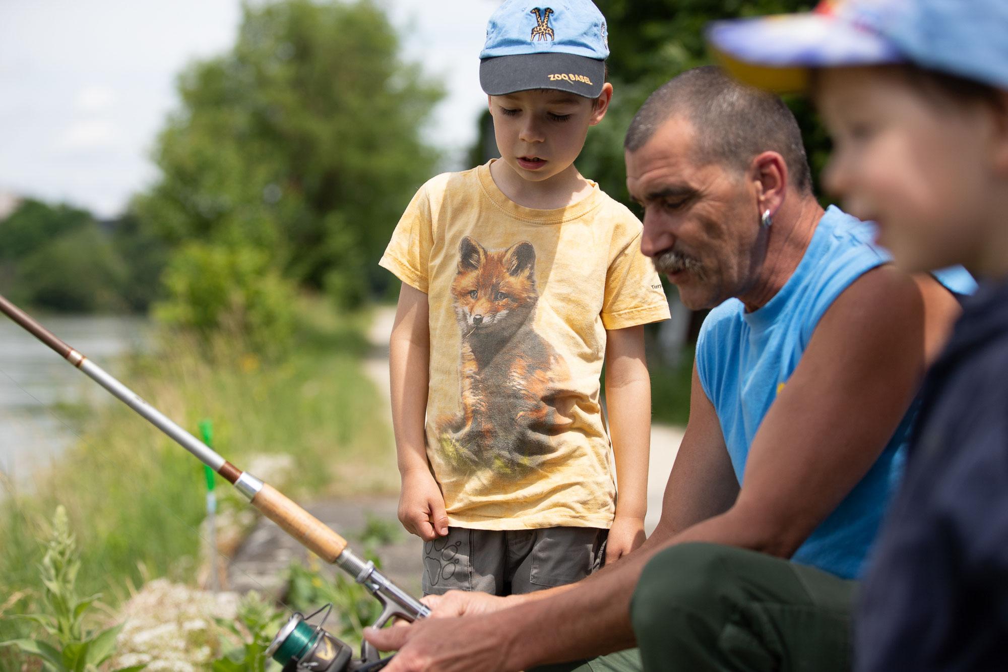 Jungfischer-Schnuppernachmittag, Samstag, 26. Juni 2021 beim Pontonierdepot Laufenburg