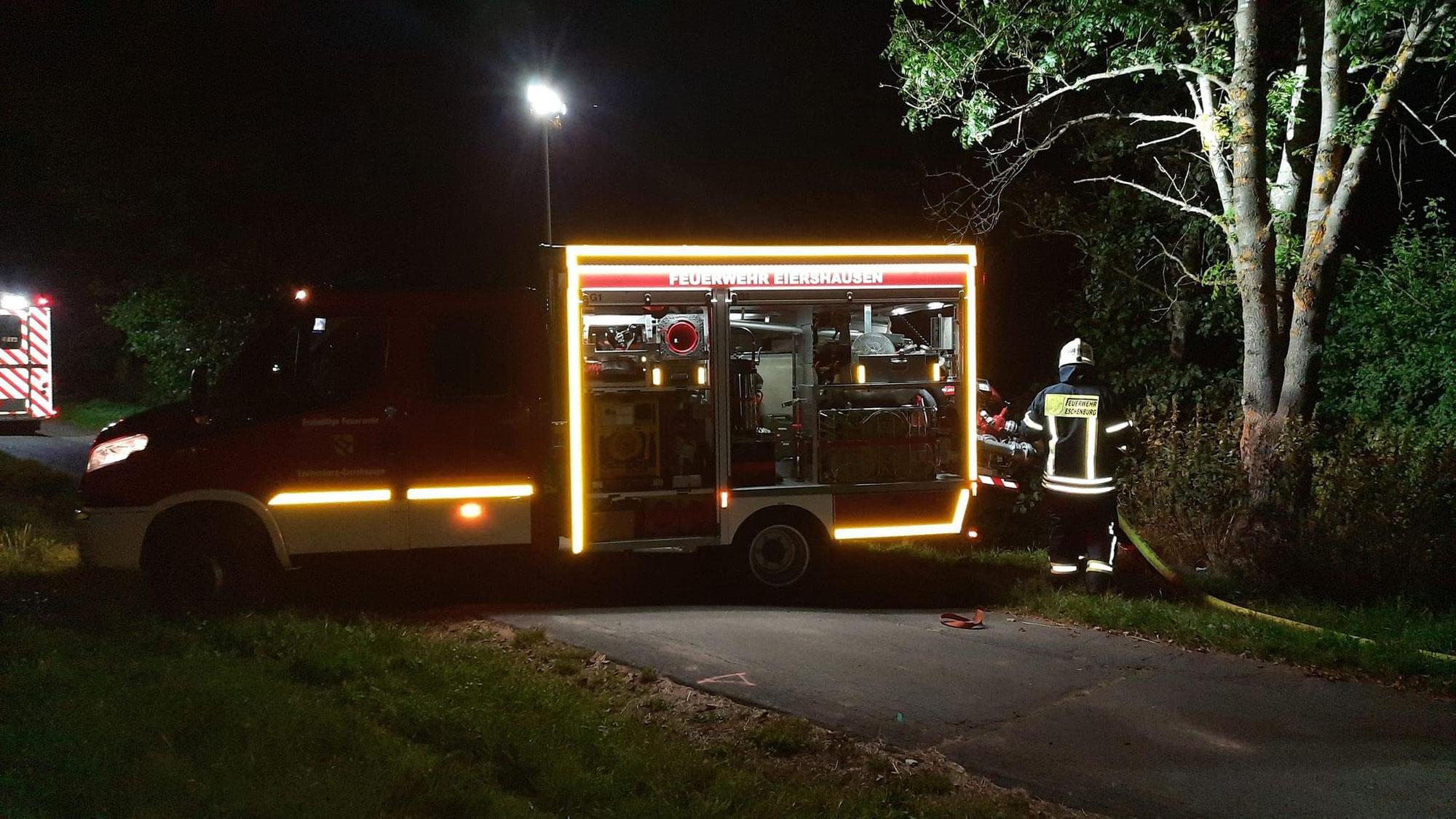 Feuer 1 - Flächenbrand Heuballen in Eiershausen