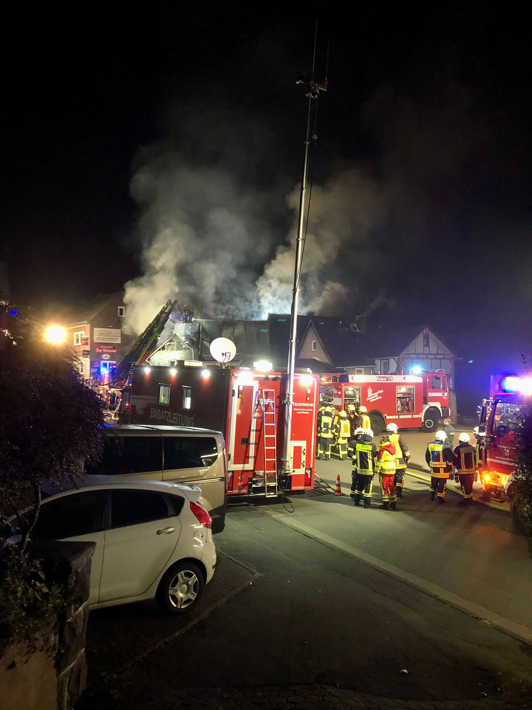 F2 Dachstuhlbrand in Steinbrücken