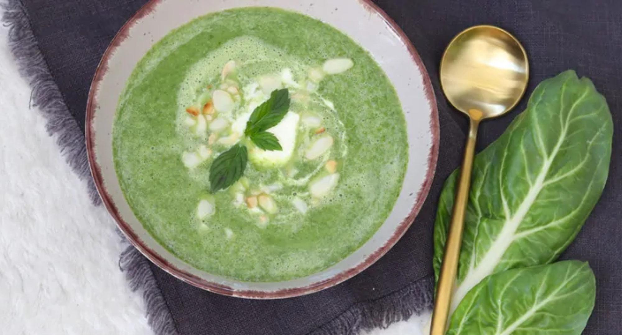 Mangoldsuppe mit Safran