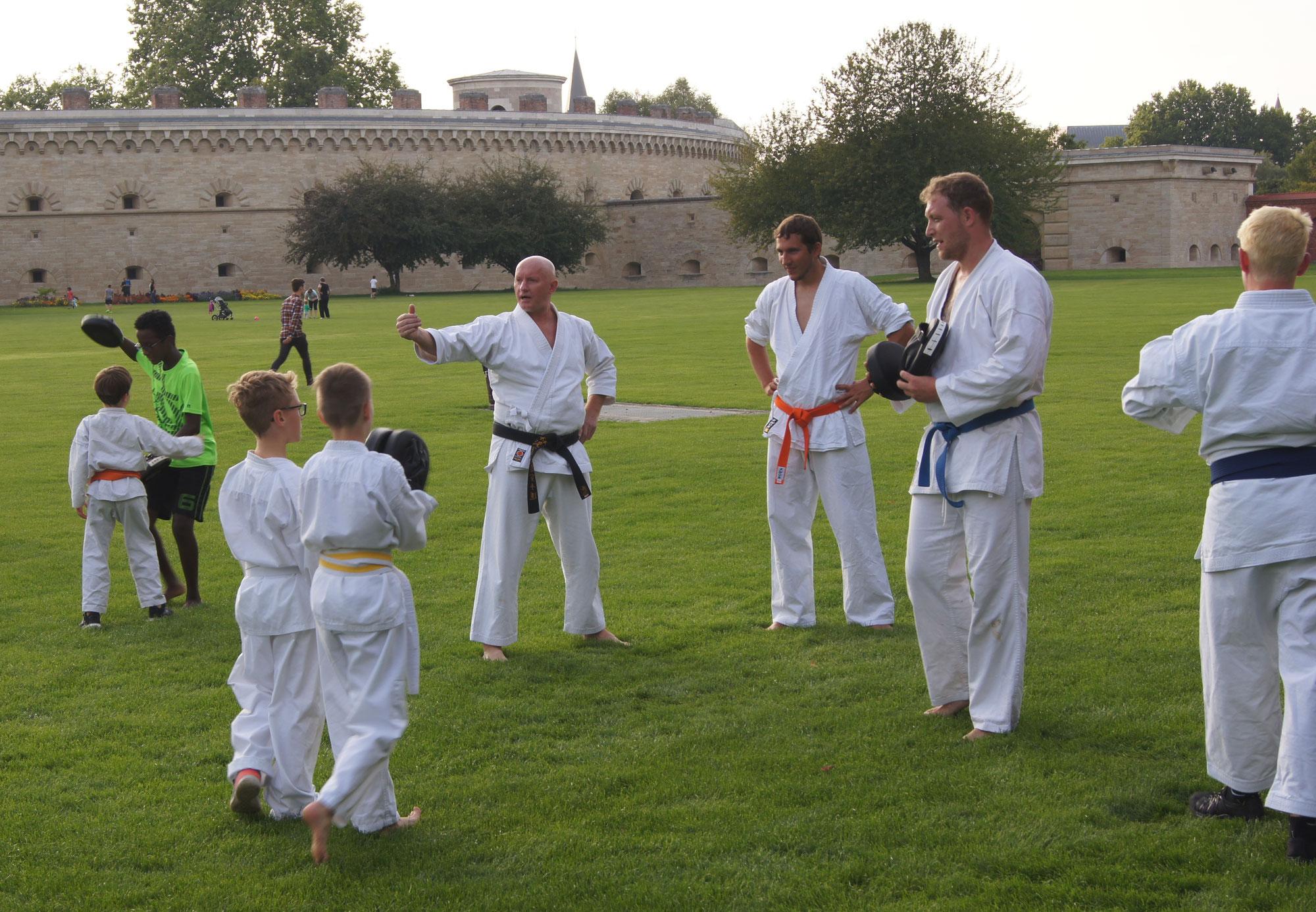 Training im Klenzepark