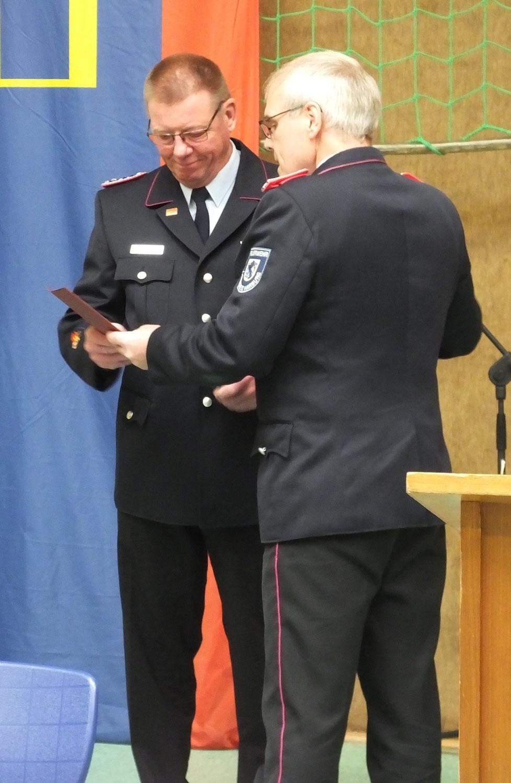 Wir gratulieren Andreas zur Ehrennadel der DJF in Silber