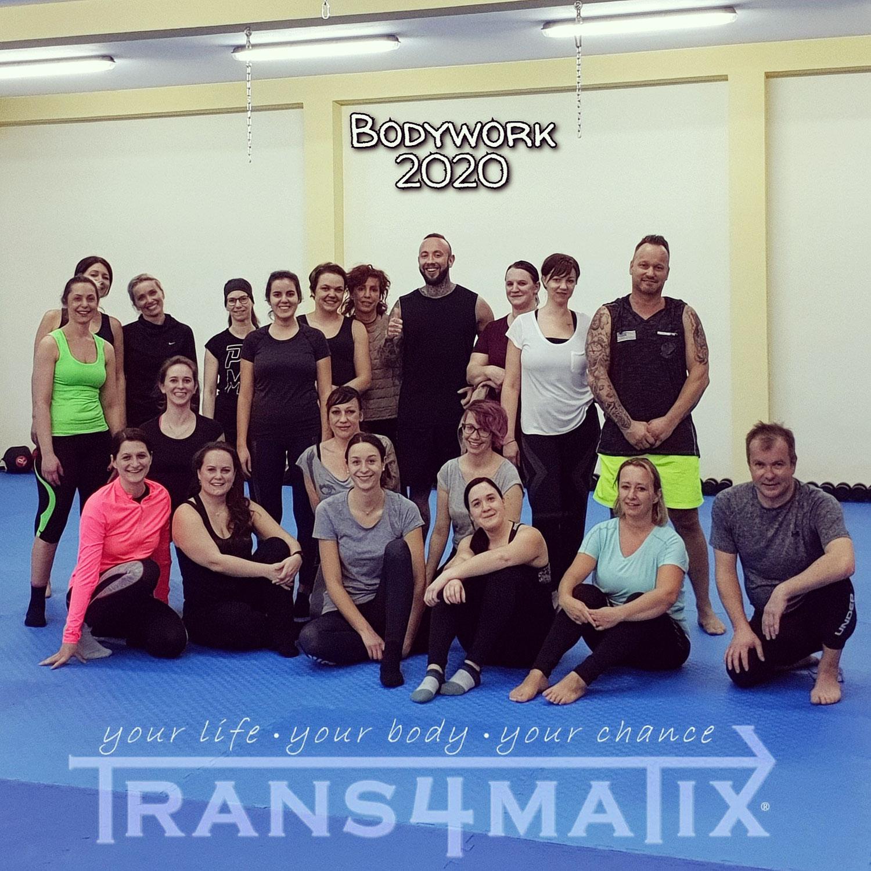 Unsere erste Bodyworkgruppe 2020 in der neuen T4X Trainingshalle in Villach