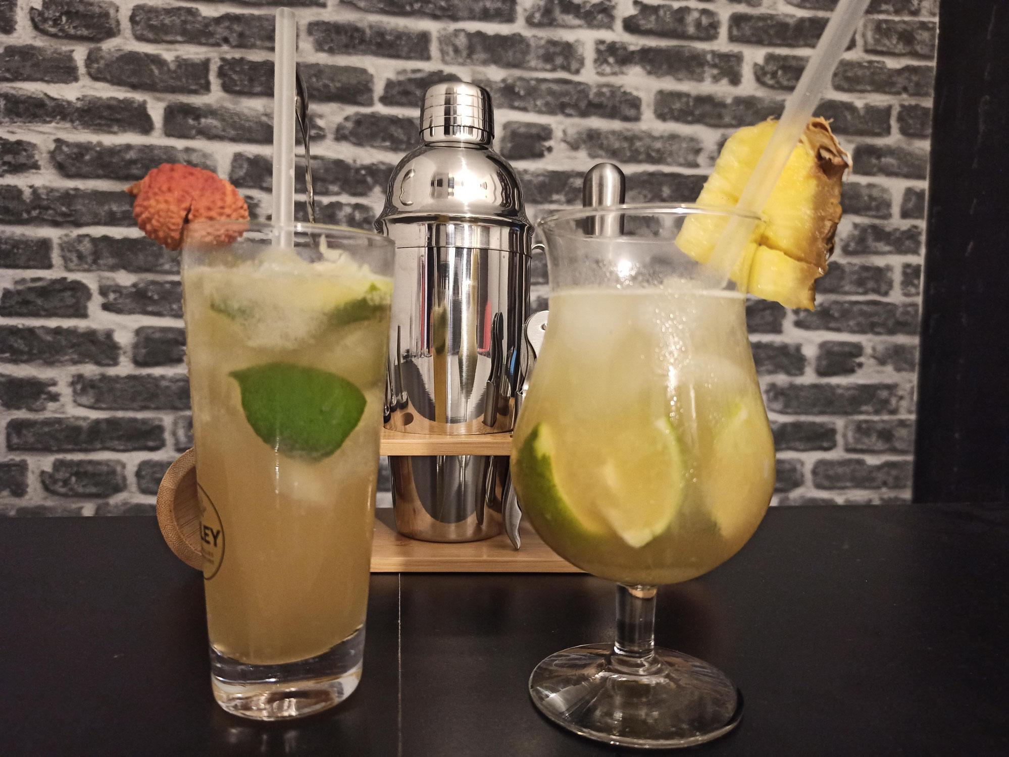Cocktails Caïpirinha et Caipiroska