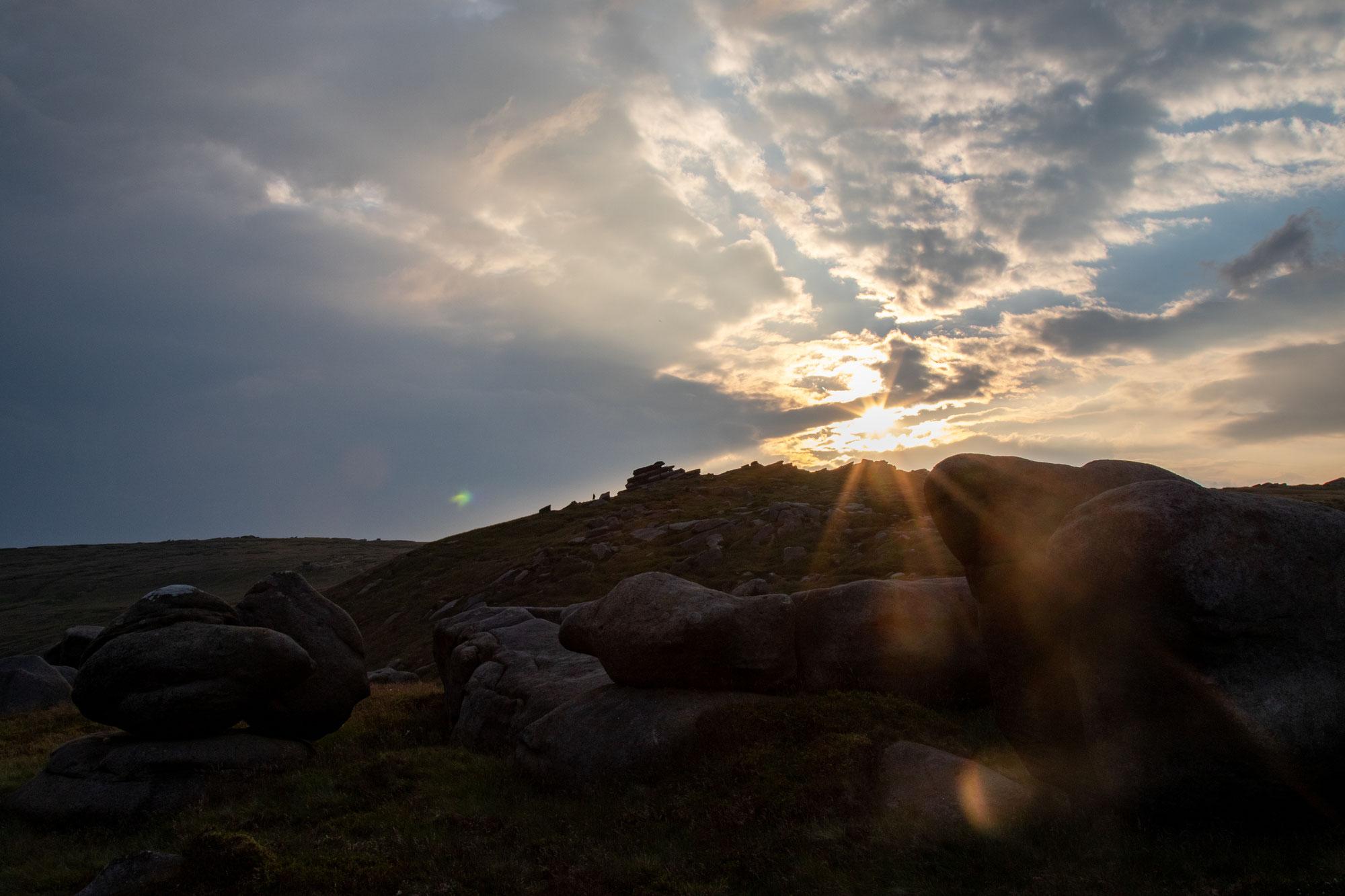 Wild camping at Kinder Scout, Peak District National Park