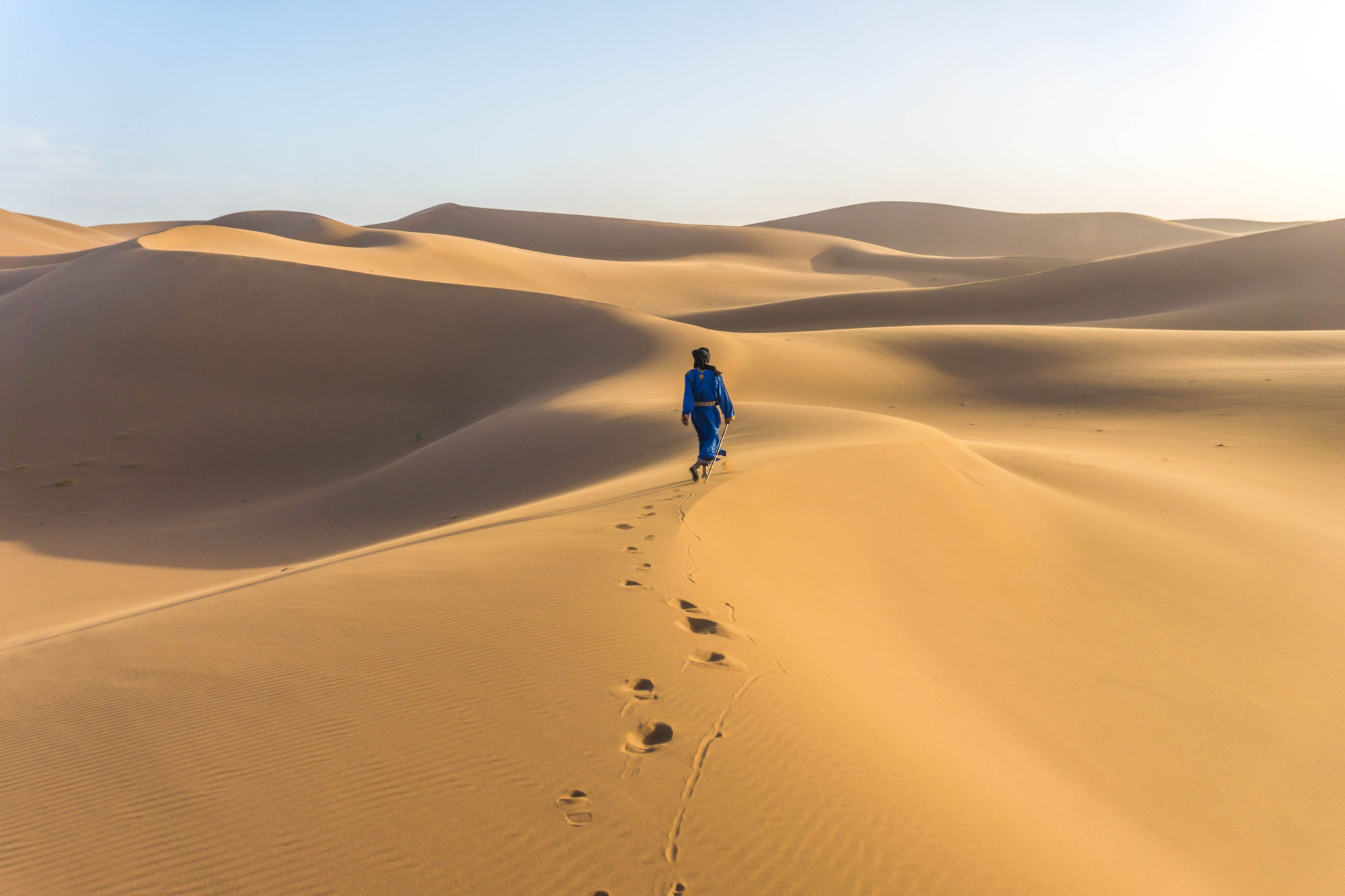 Voyage à pied méditation