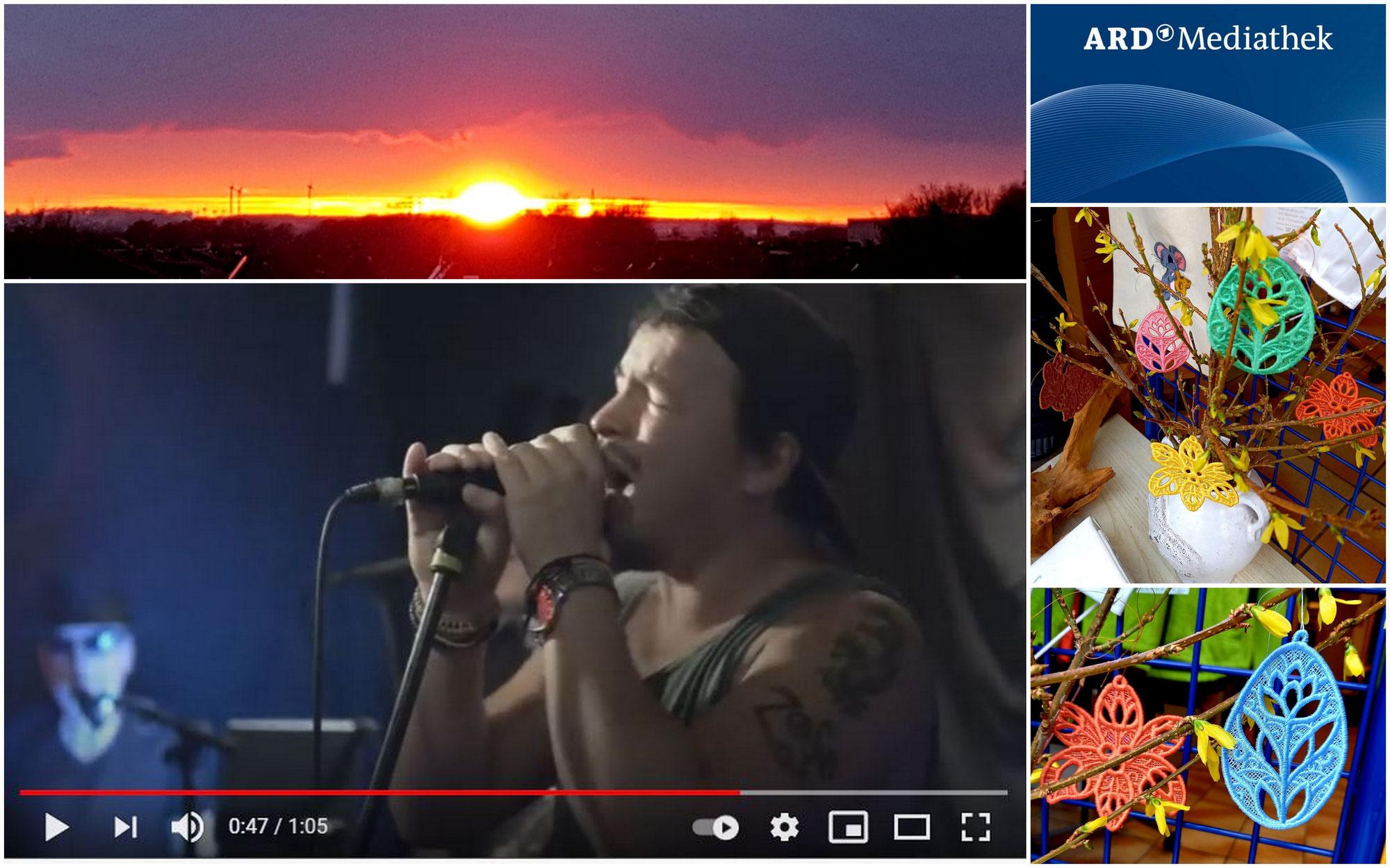 """Ein Sonnenaufgang zum Verlieben, Corona-News zum Nachdenken, gediegene Oster-Deko von """"Stick-Design"""" + der Power-Song """"Wann, wenn nicht jetzt...!"""""""