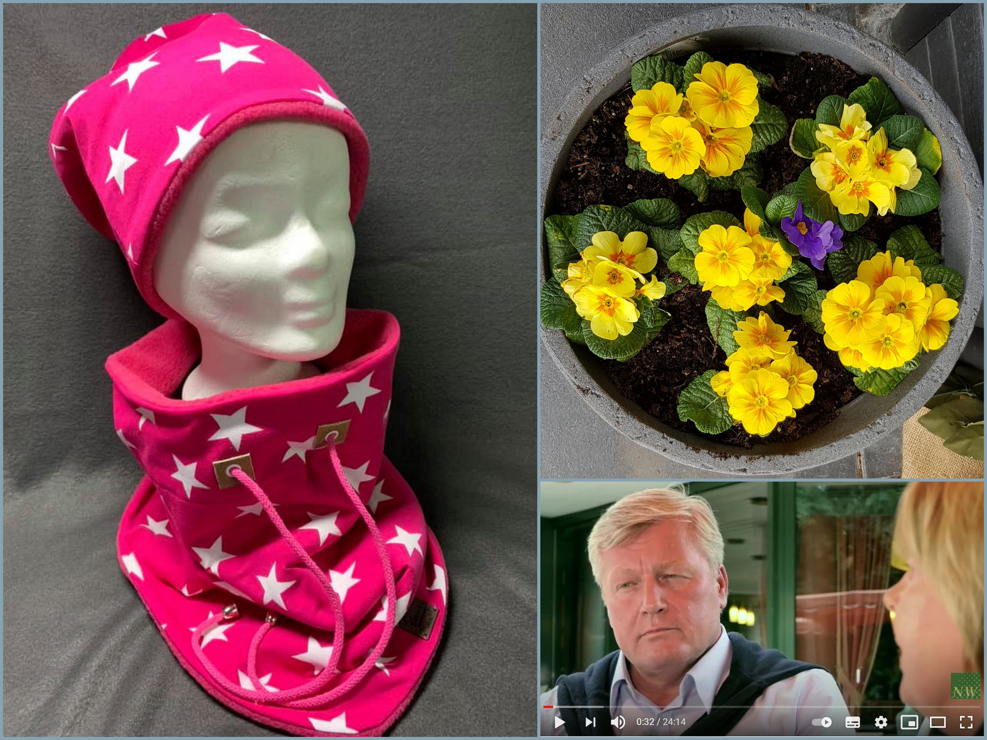 """Frühling im Februar, farbenfrohe Loops + Beanies aus """"Biene`s Nähstübchen"""", + Glückwunsch zur Wiederwahl an Niedersachsens CDU-Vorsitzenden Dr. Bernd Althusmann"""