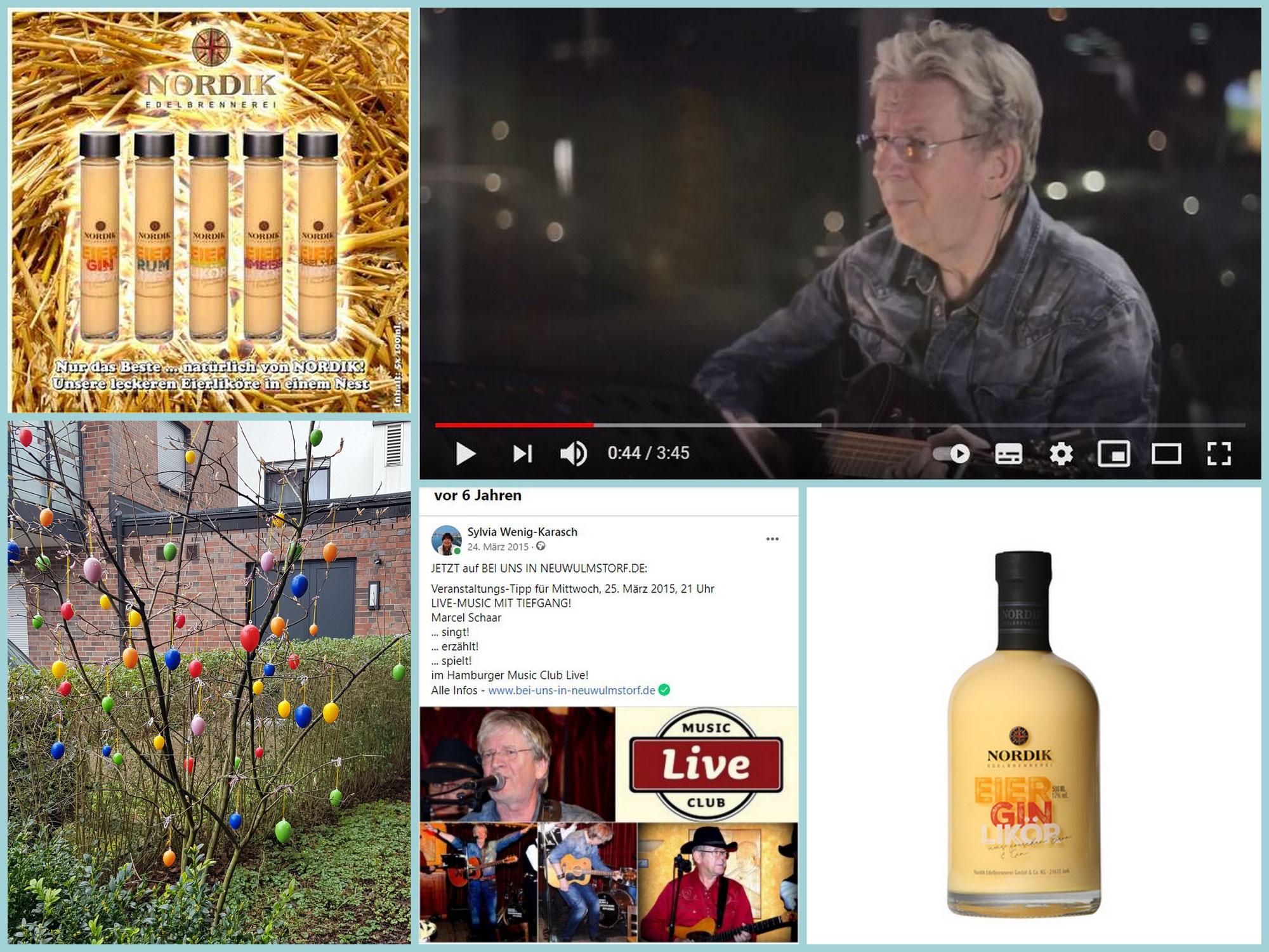 Jetzt wird´s österlich! Die besten Eierliköre aus der NORDIK Edelbrennerei und ein Rückblick ins Konzertjahr 2015 mit Singer/Songwriter Marcel Schaar!