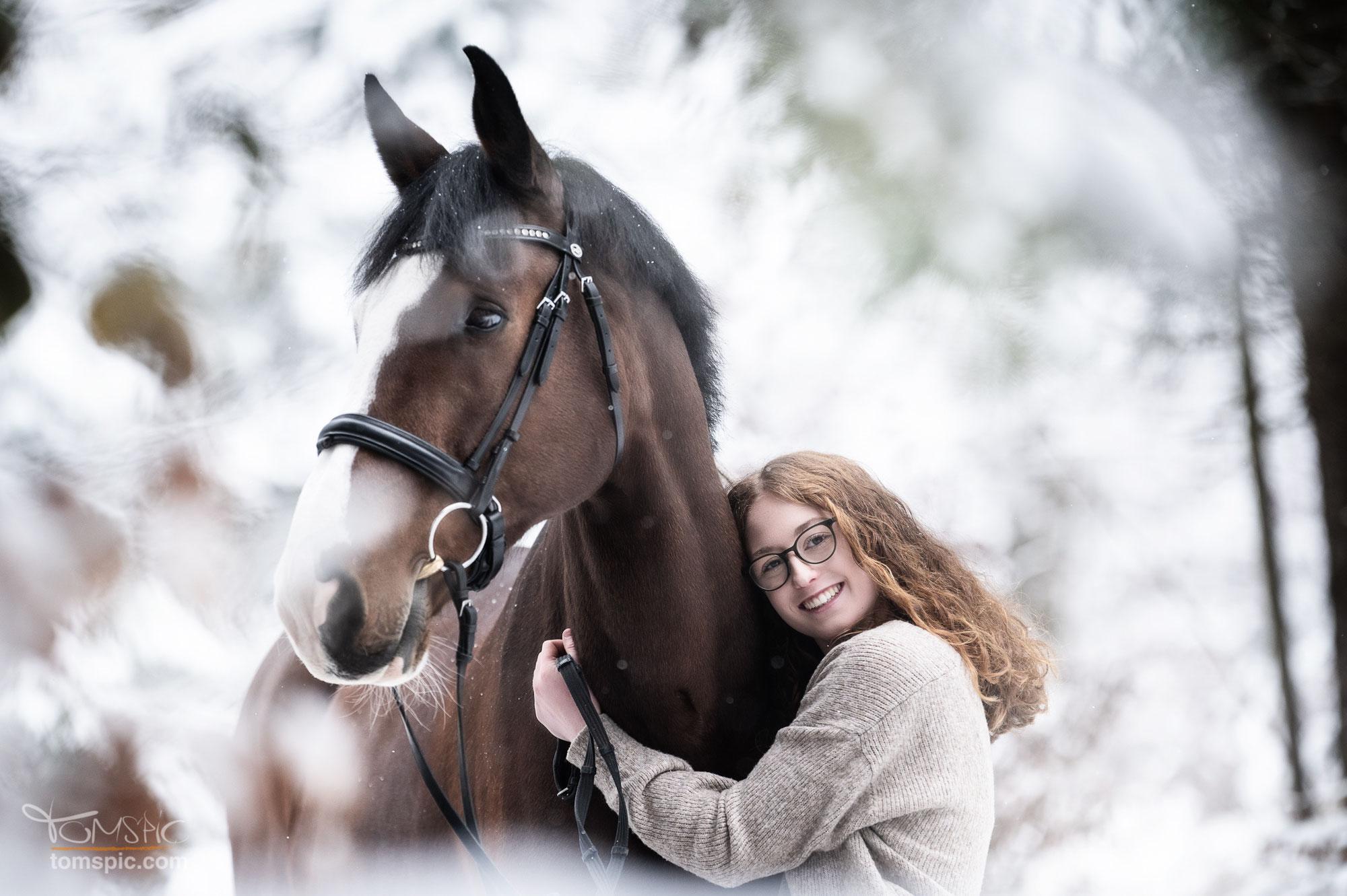 Wintershooting mit Jule | Pferdefotografie Schönbuch