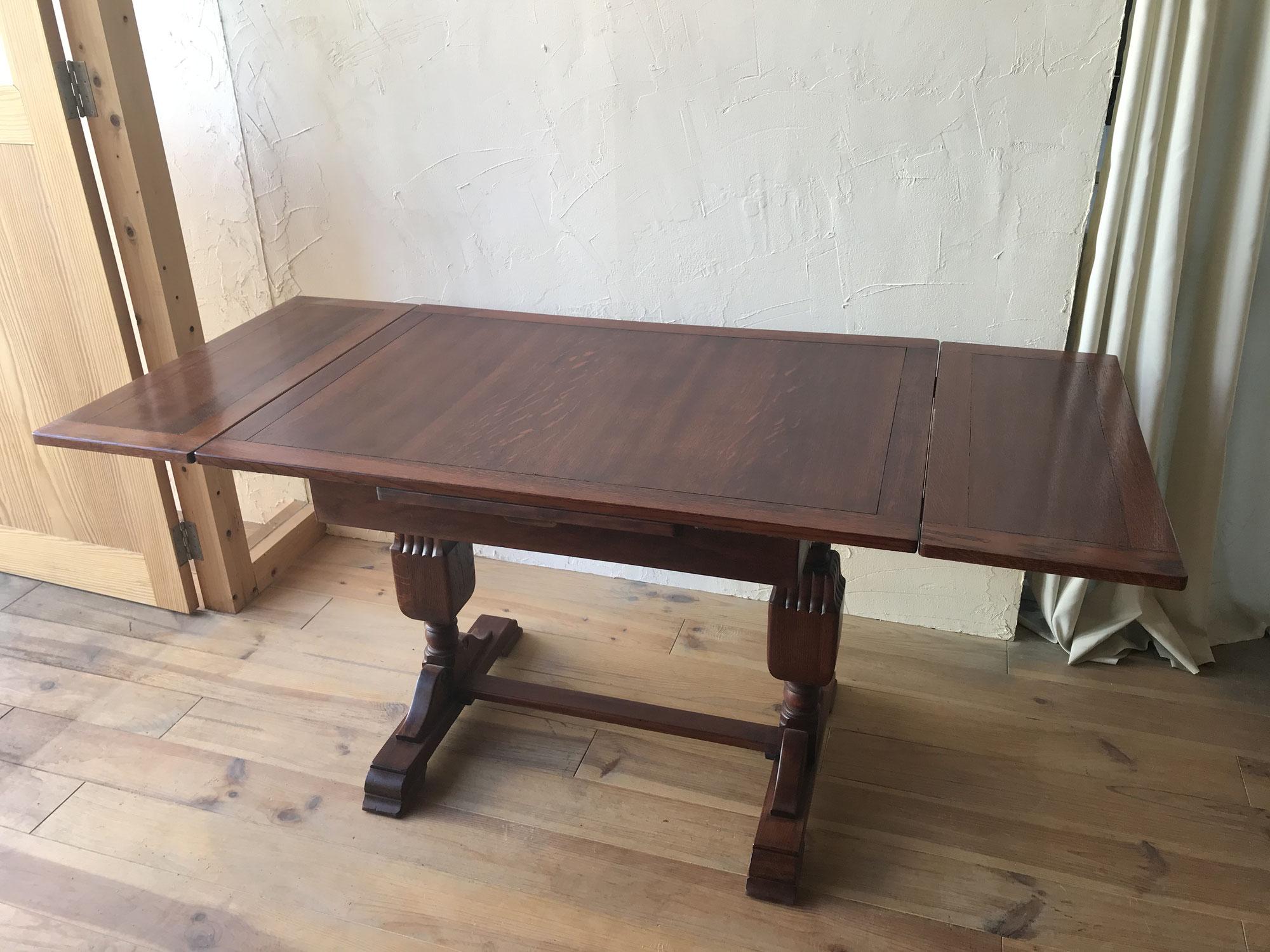 アンティーク家具をきれいに使いたい|伸長式テーブルを再生した・大阪市