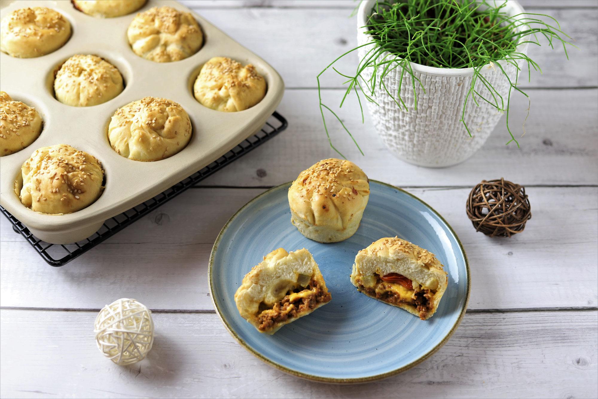 Cheeseburger-Muffins im 12-er Snack von Pampered Chef®