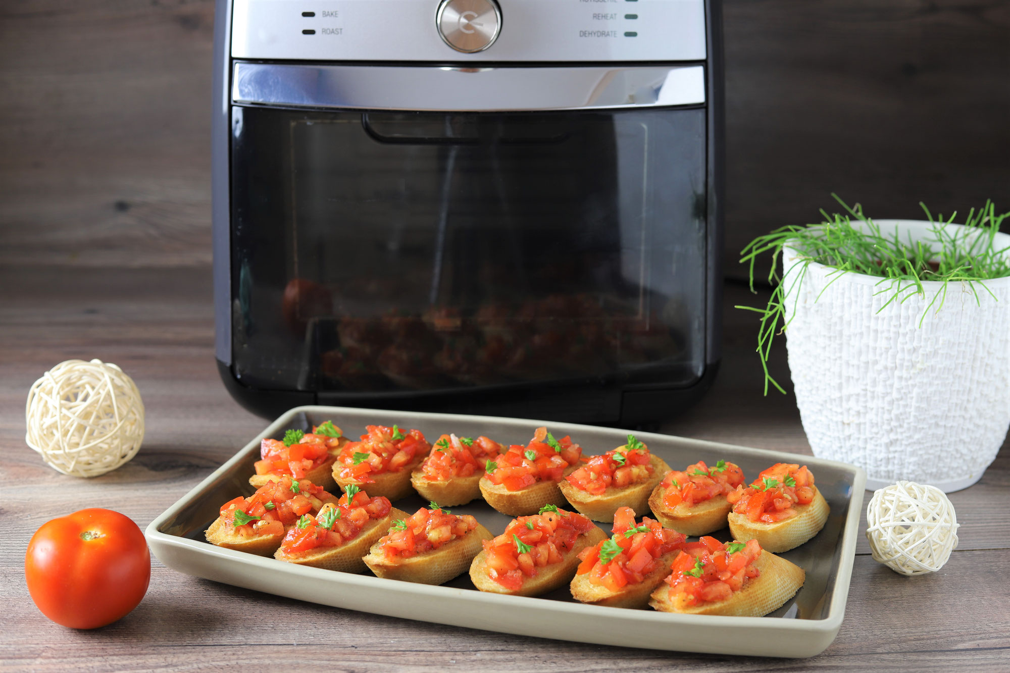 Bruschetta im Deluxe Air Fryer von Pampered Chef®