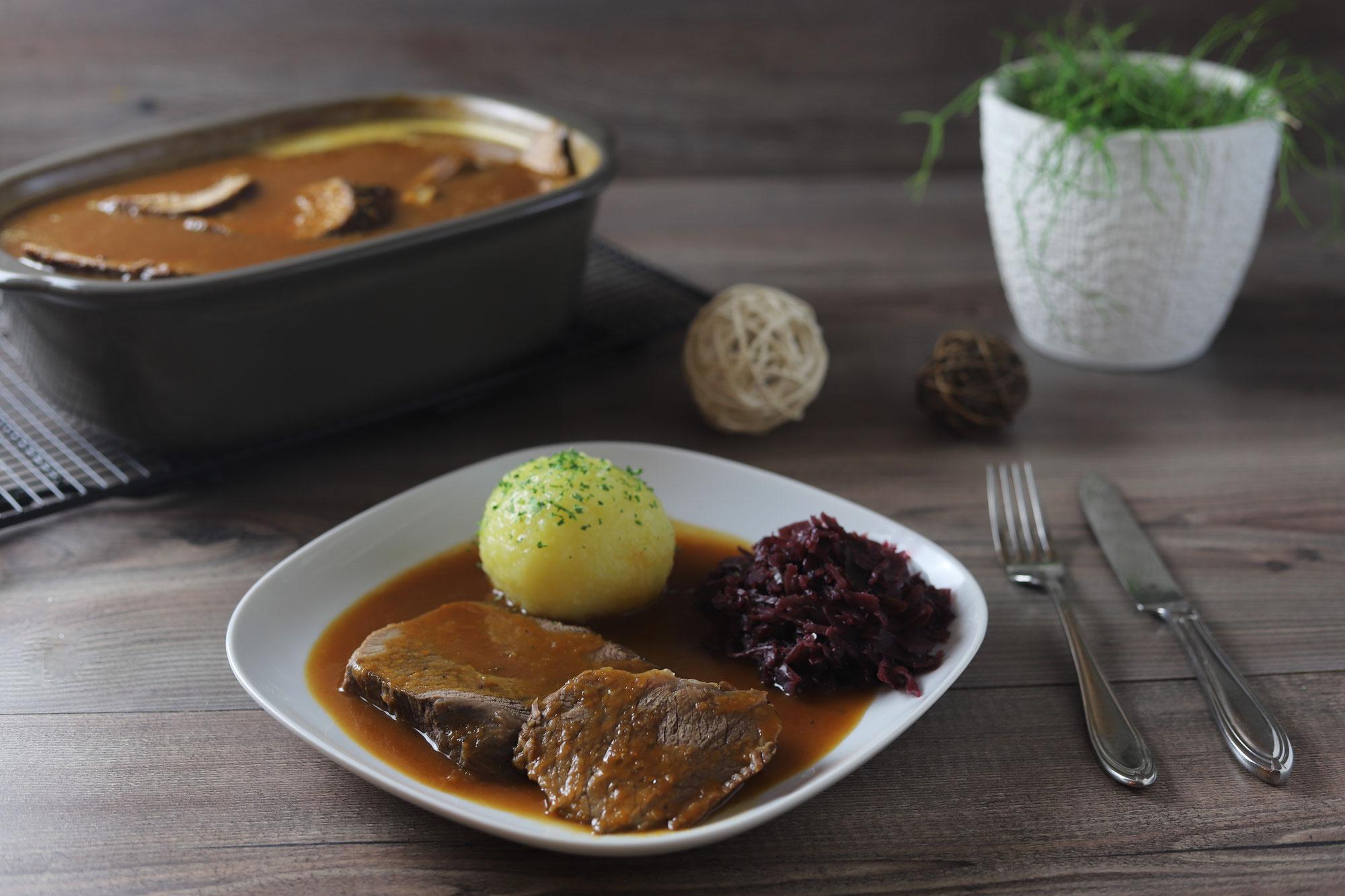 Rinderbraten mit süß-saurer Soße im Ofenmeister von Pampered Chef®