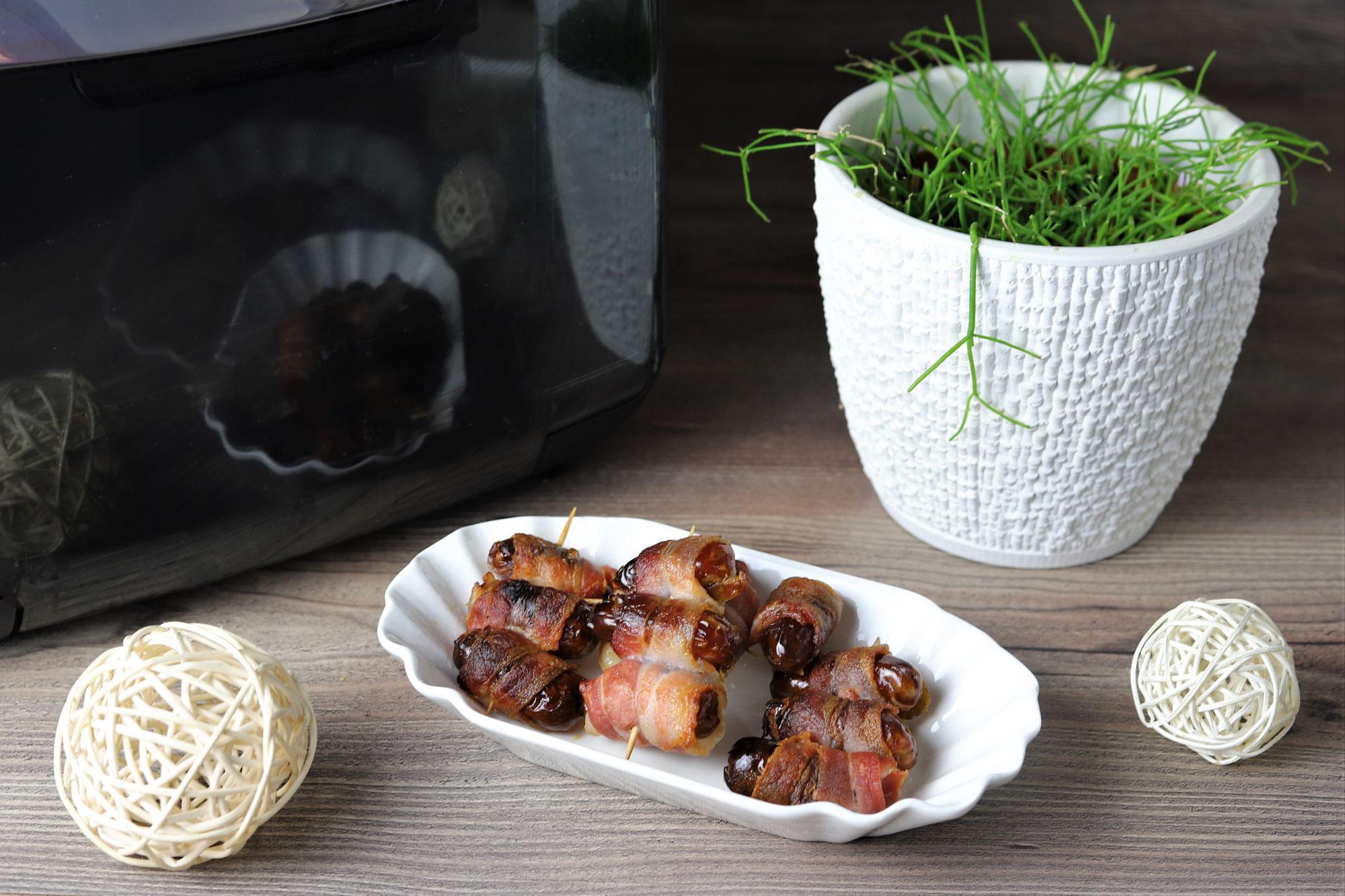 Datteln im Speckmantel im Deluxe Air Fryer von Pampered Chef®