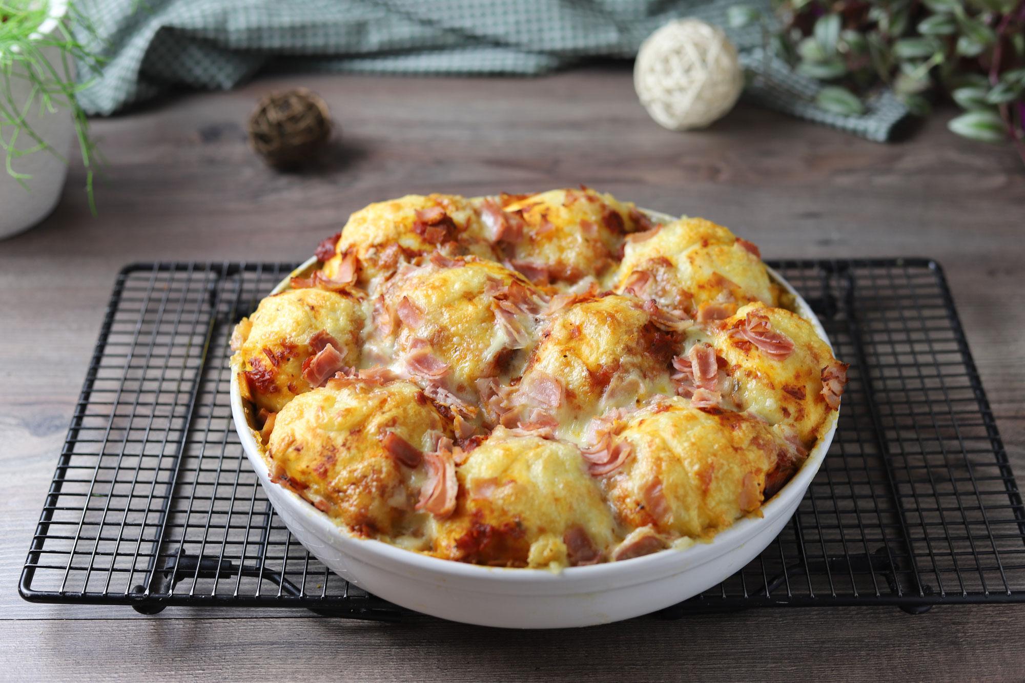 Bubble-up-Pizza aus der runden Ofenhexe von Pampered Chef®
